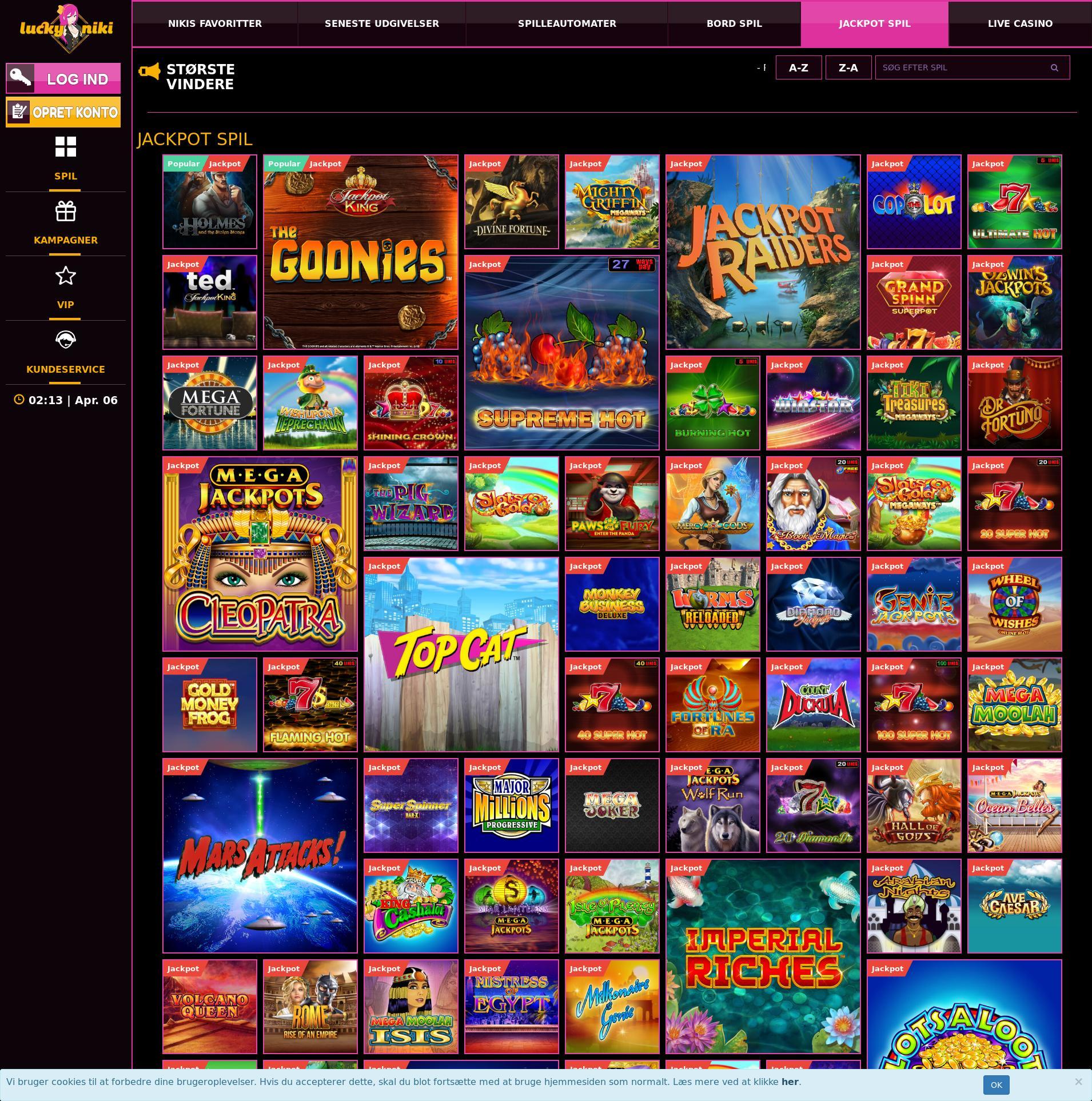 Màn hình Casino Lobby 2020-04-06 cho Đan mạch