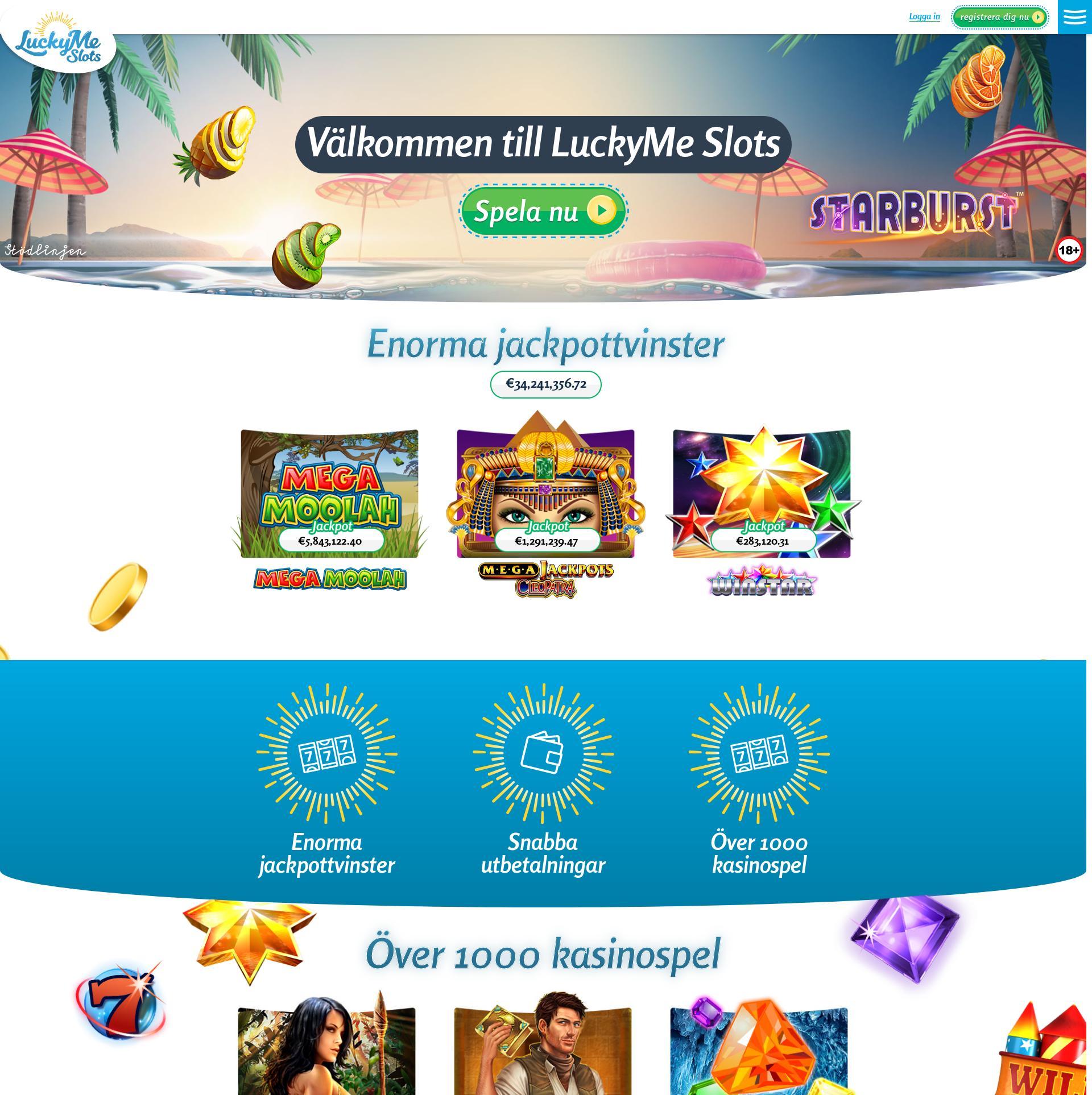 Casino skärm Lobby 2020-04-02 för Sverige