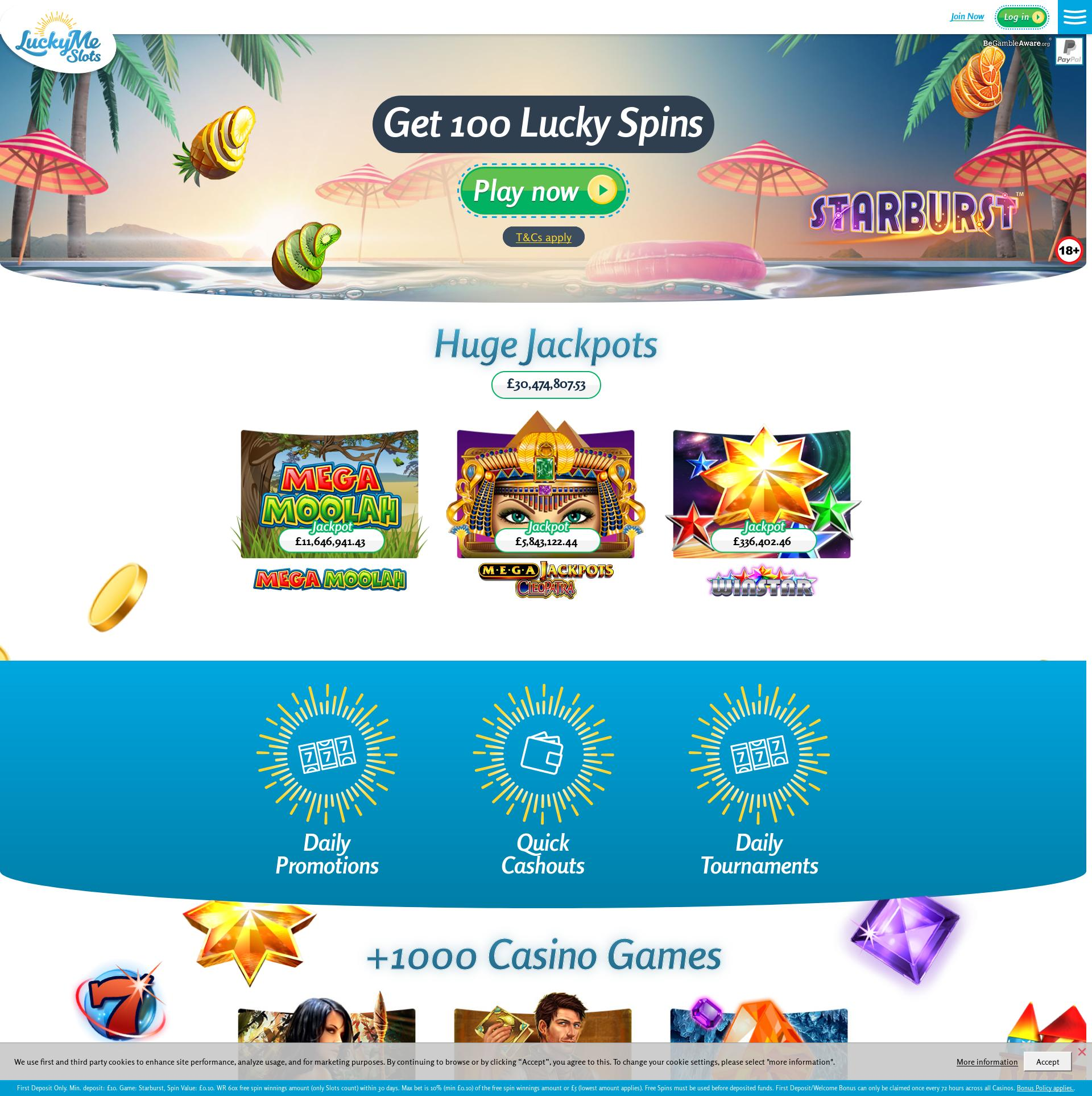 Casino screen Lobby 2019-08-23 for United Kingdom