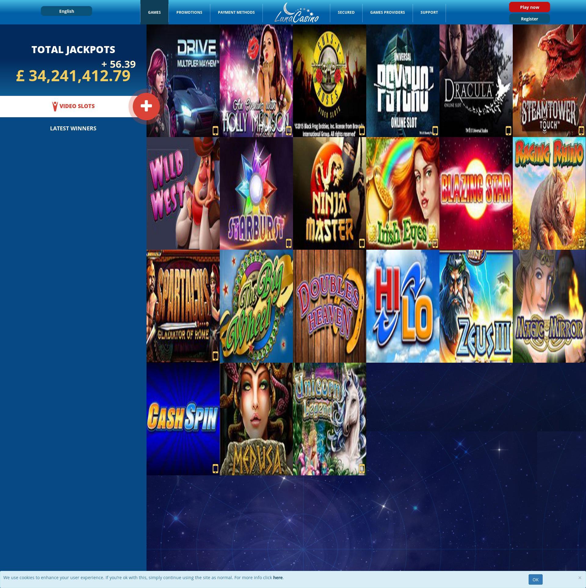 Casino screen Lobby 2019-11-10 for United Kingdom