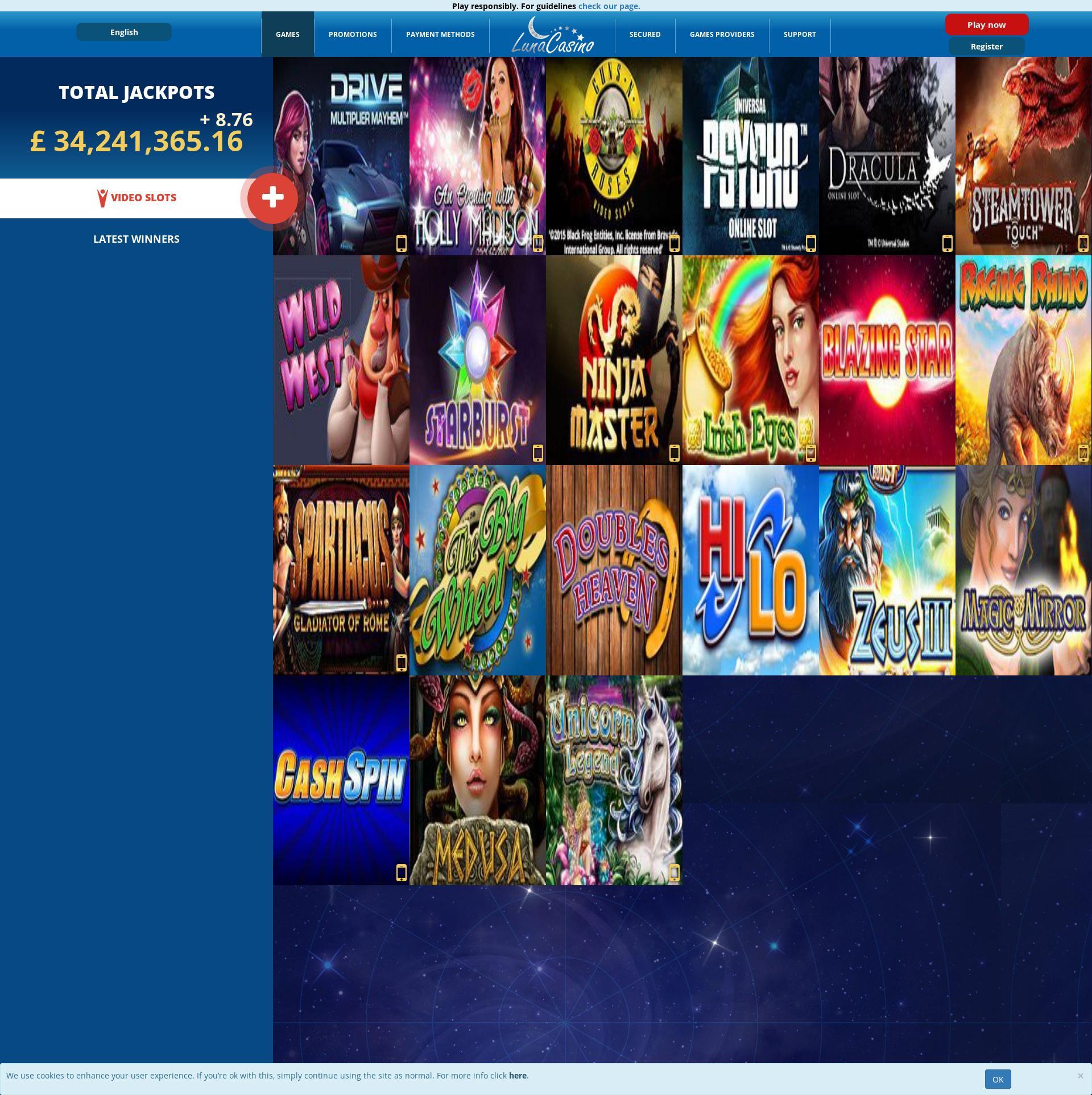 カジノのスクリーン Lobby 2020-06-01 ために イギリス