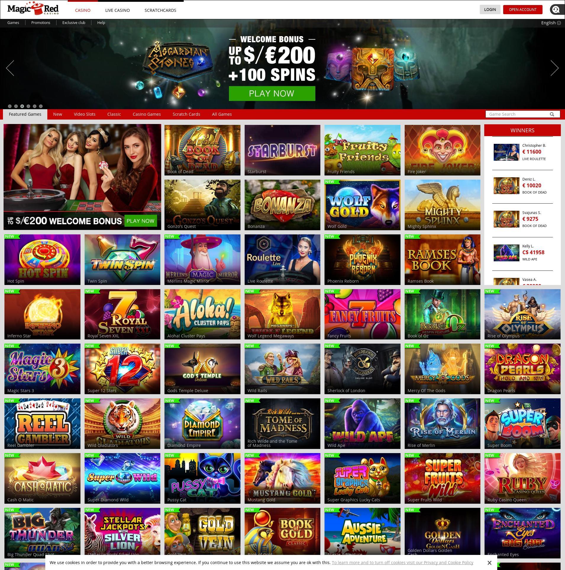 Casino scherm Lobby 2019-07-15 voor Nederland
