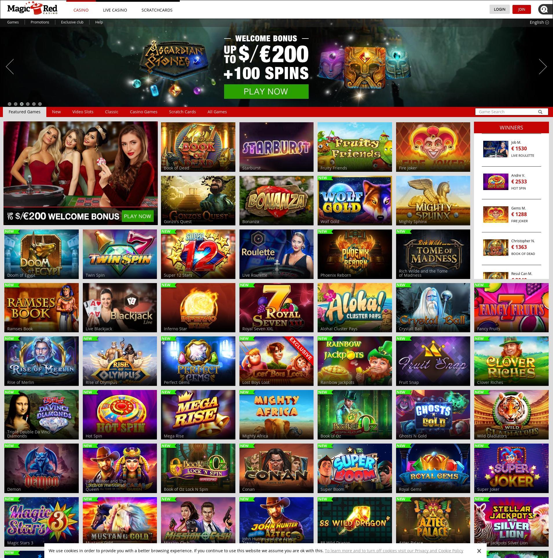 Casino scherm Lobby 2019-10-20 voor Nederland
