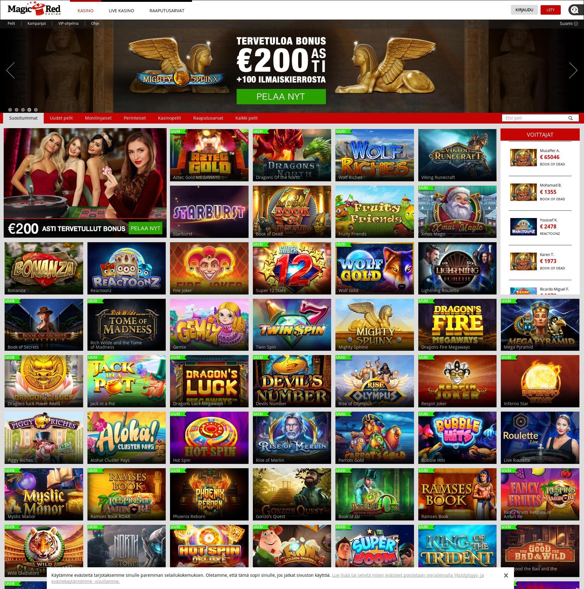 Casino-näyttö Lobby 2019-12-15 varten Suomi