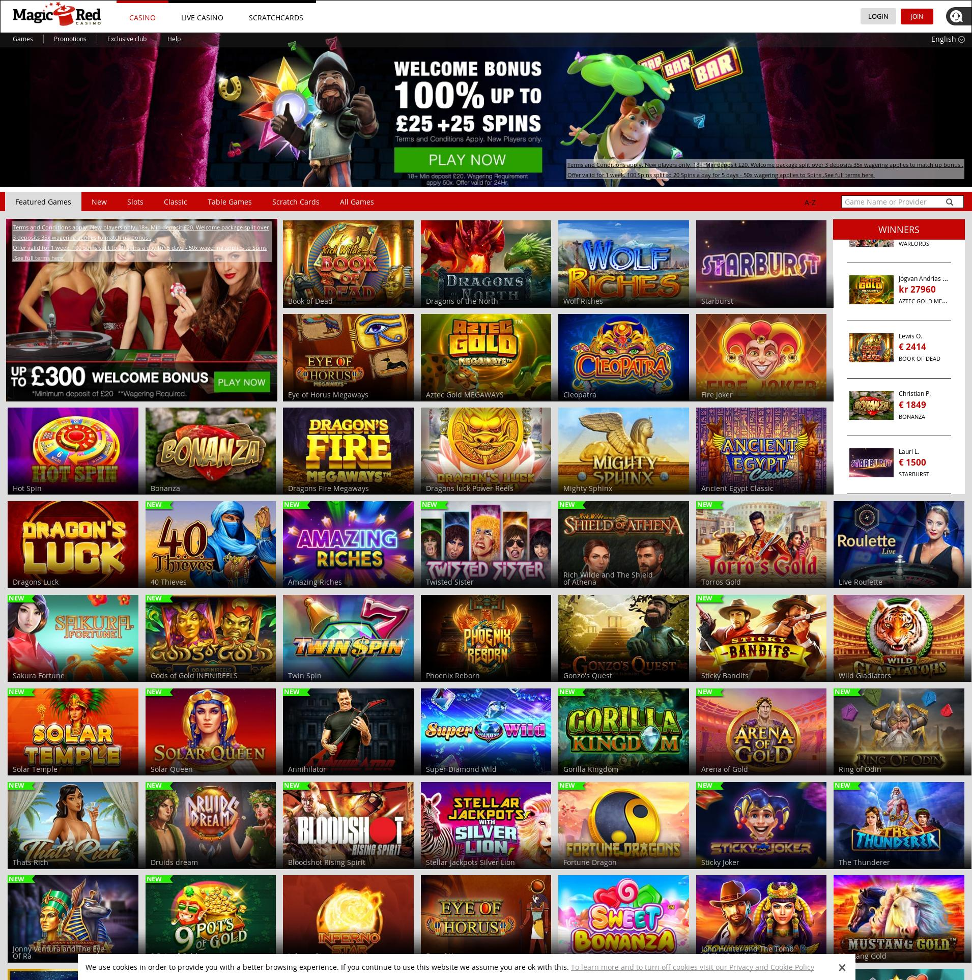 Casino scherm Lobby 2020-06-06 voor Verenigd Koningkrijk