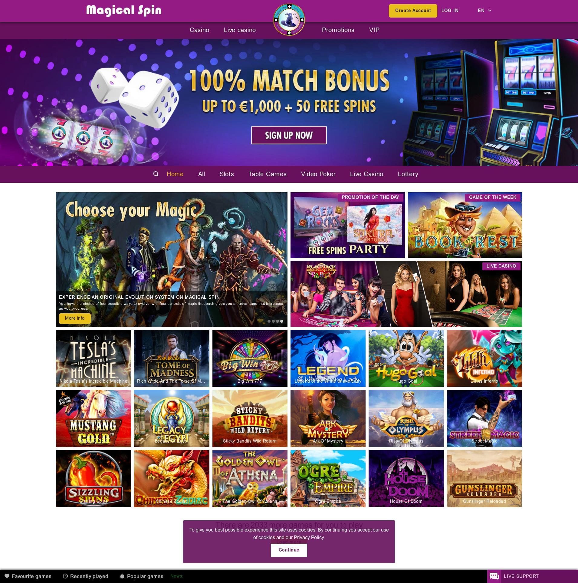 Écran de casino Lobby 2020-01-16 pour France