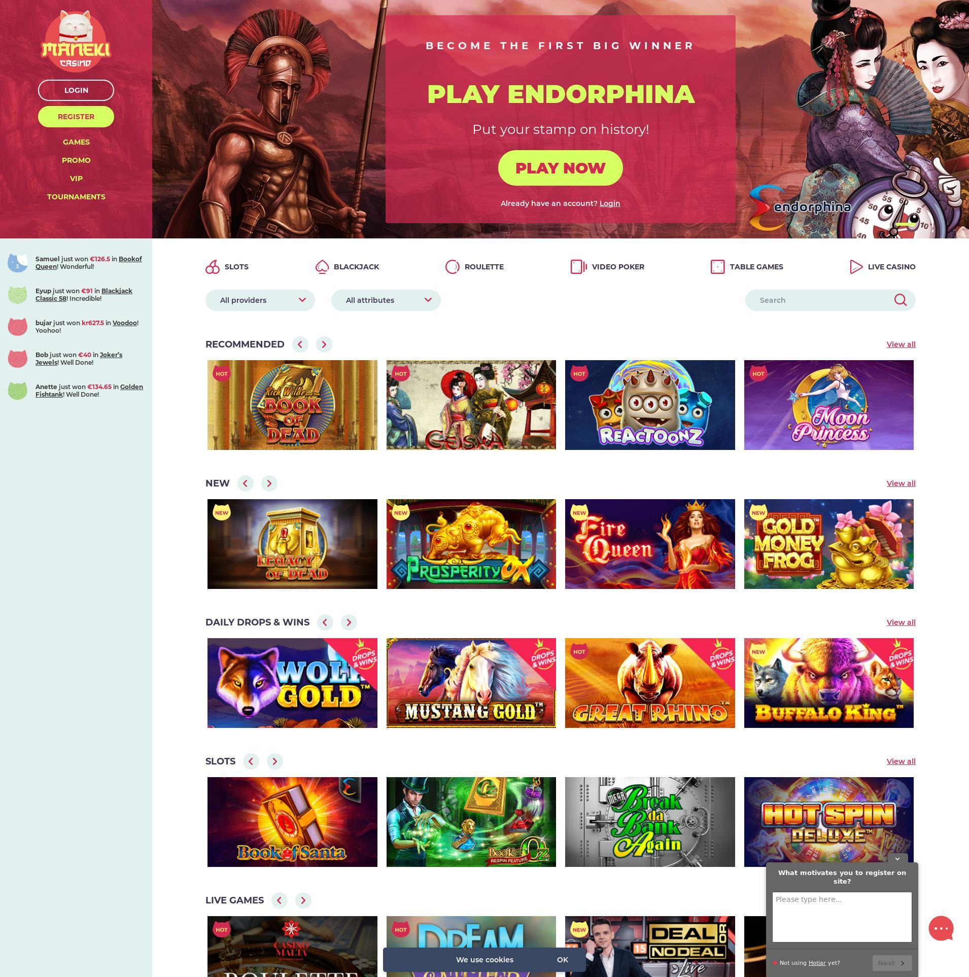 Casino scherm Lobby 2020-01-26 voor Nederland