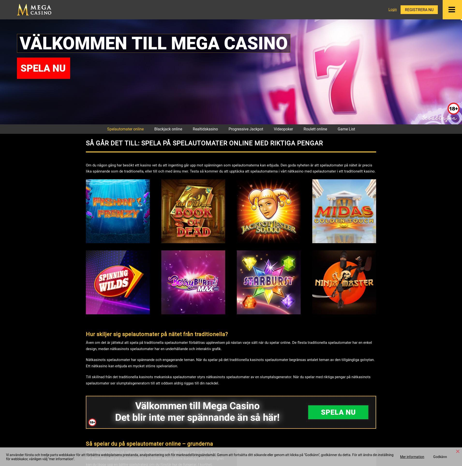 Casino screen Lobby 2019-08-23 for Sweden