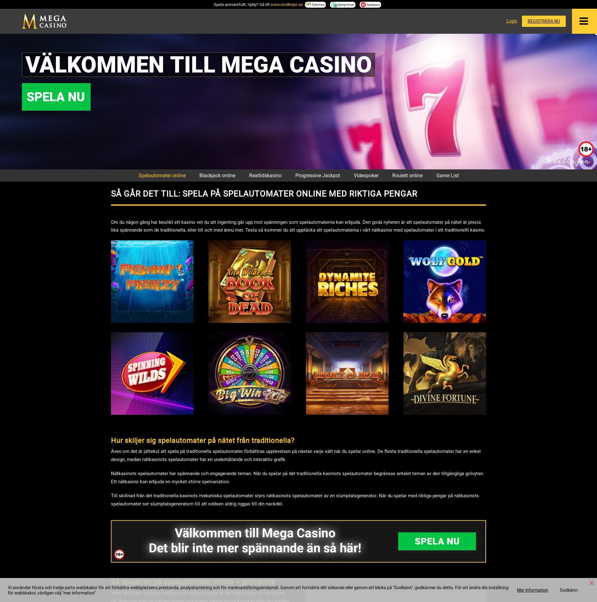 Casino screen Lobby 2020-06-03 for Sweden