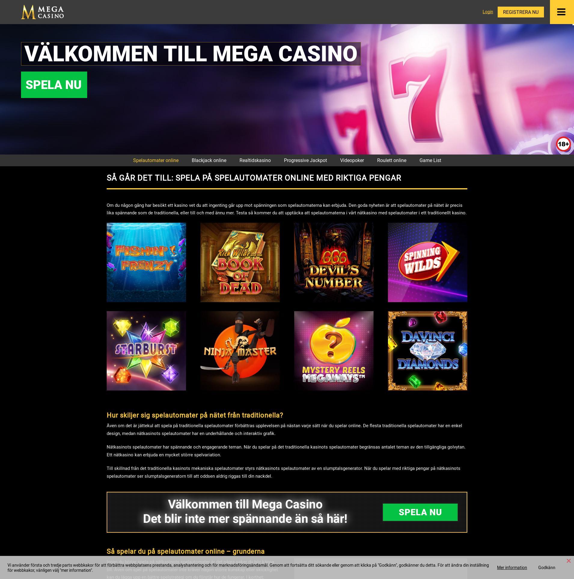 Casino screen Lobby 2019-06-19 for Sweden