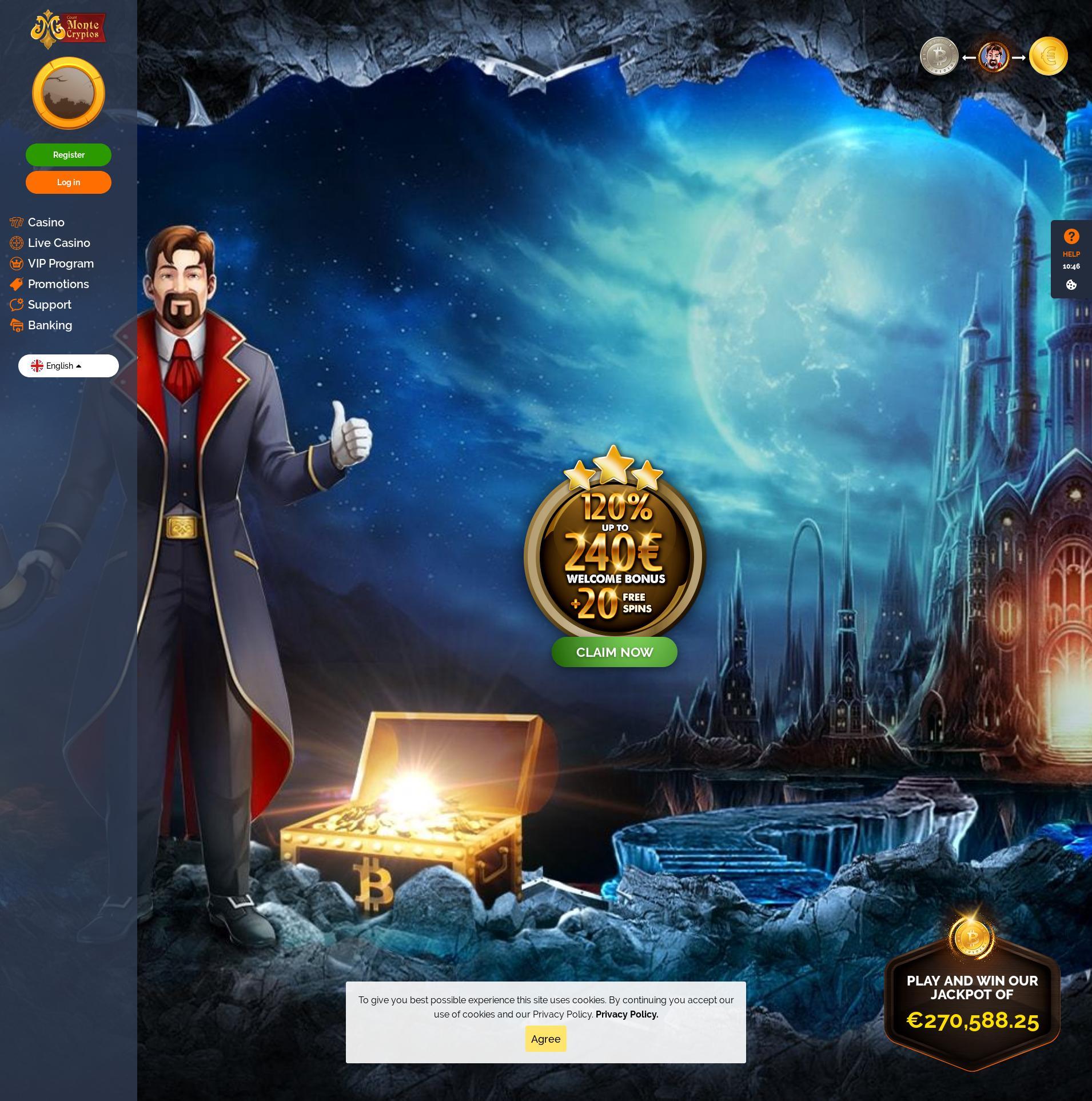 Écran de casino Lobby 2019-09-21 pour France