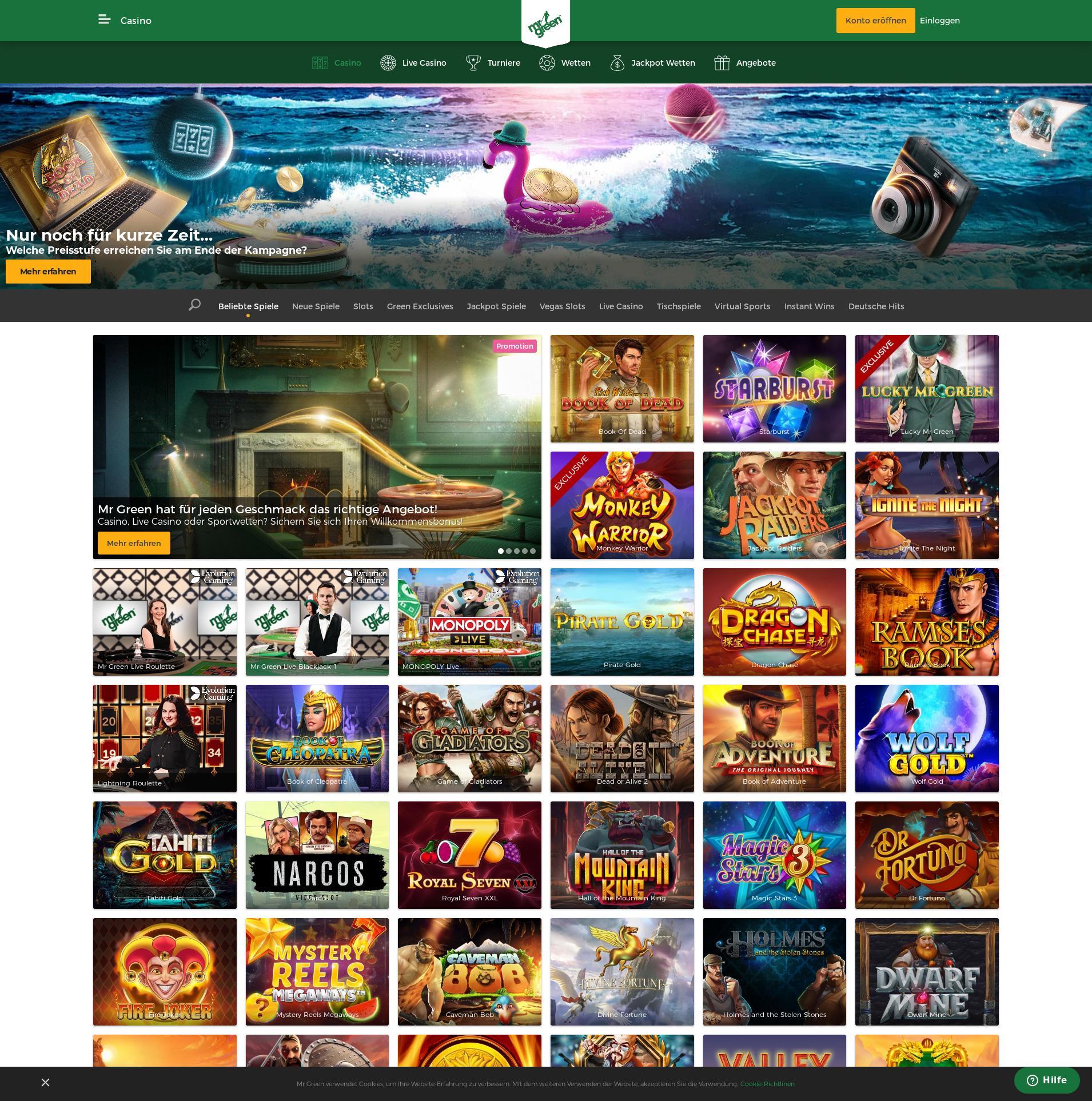 Casino Bildschirm Lobby 2019-06-18 zum Deutschland