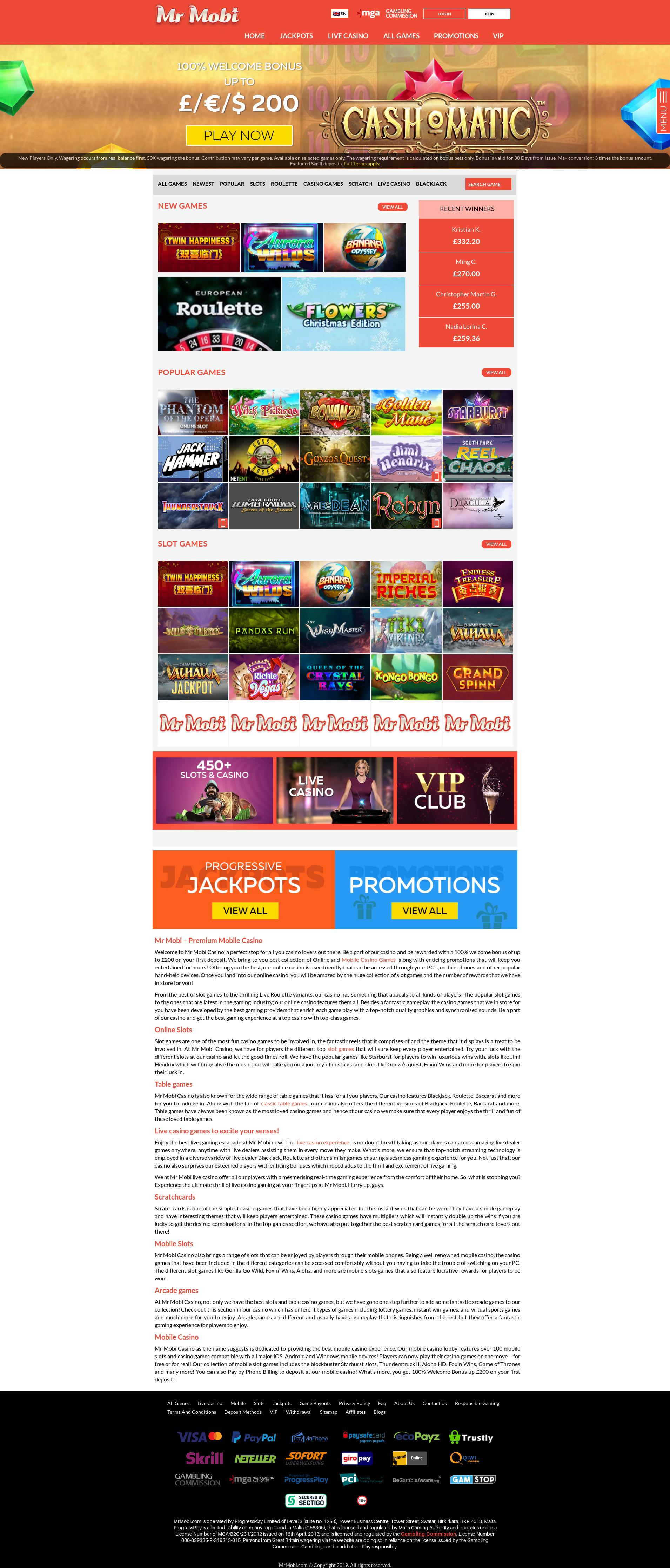 Casino screen Lobby 2019-09-21 for Sweden