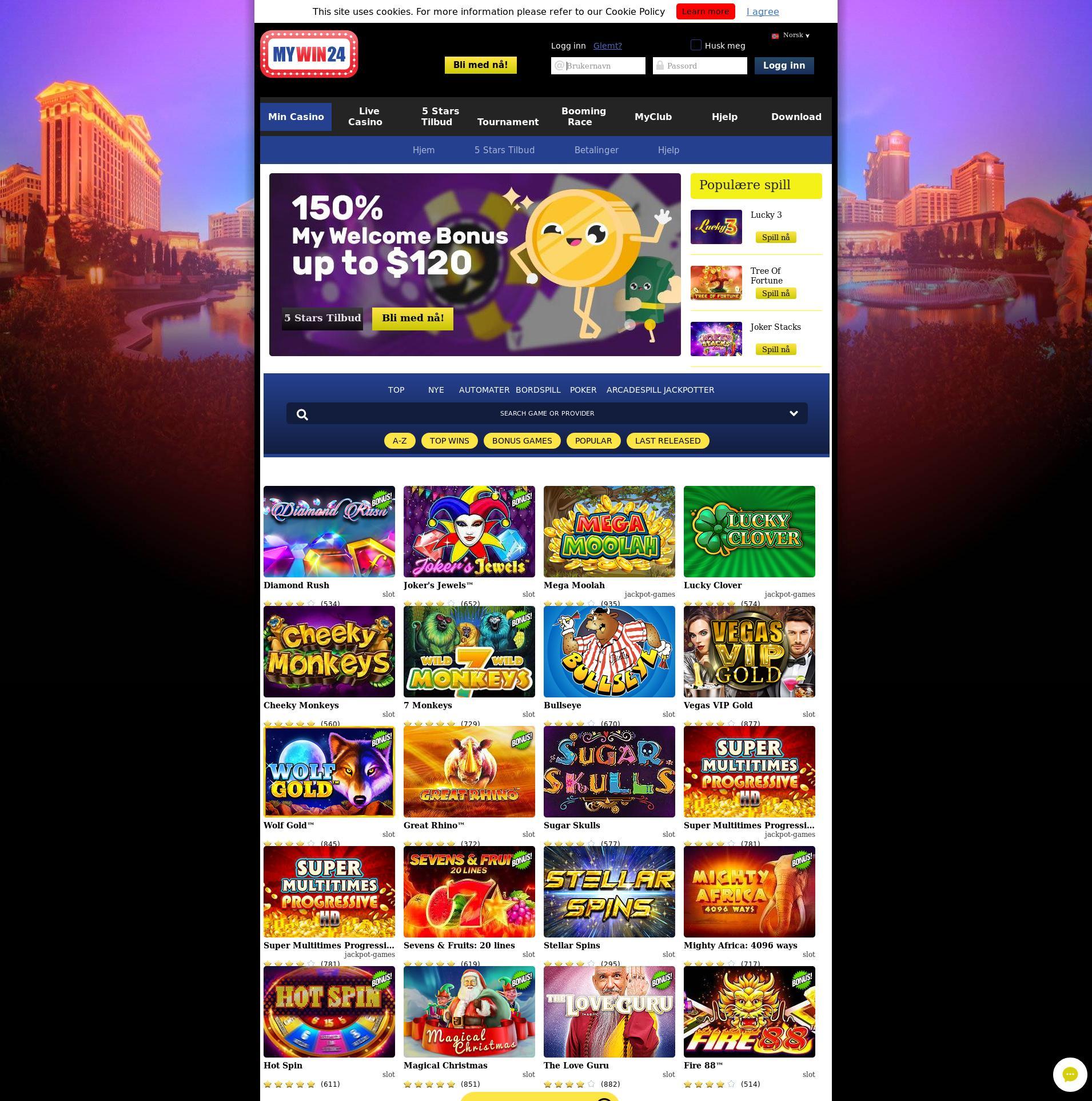 Casino screen Lobby 2019-07-16 for Denmark