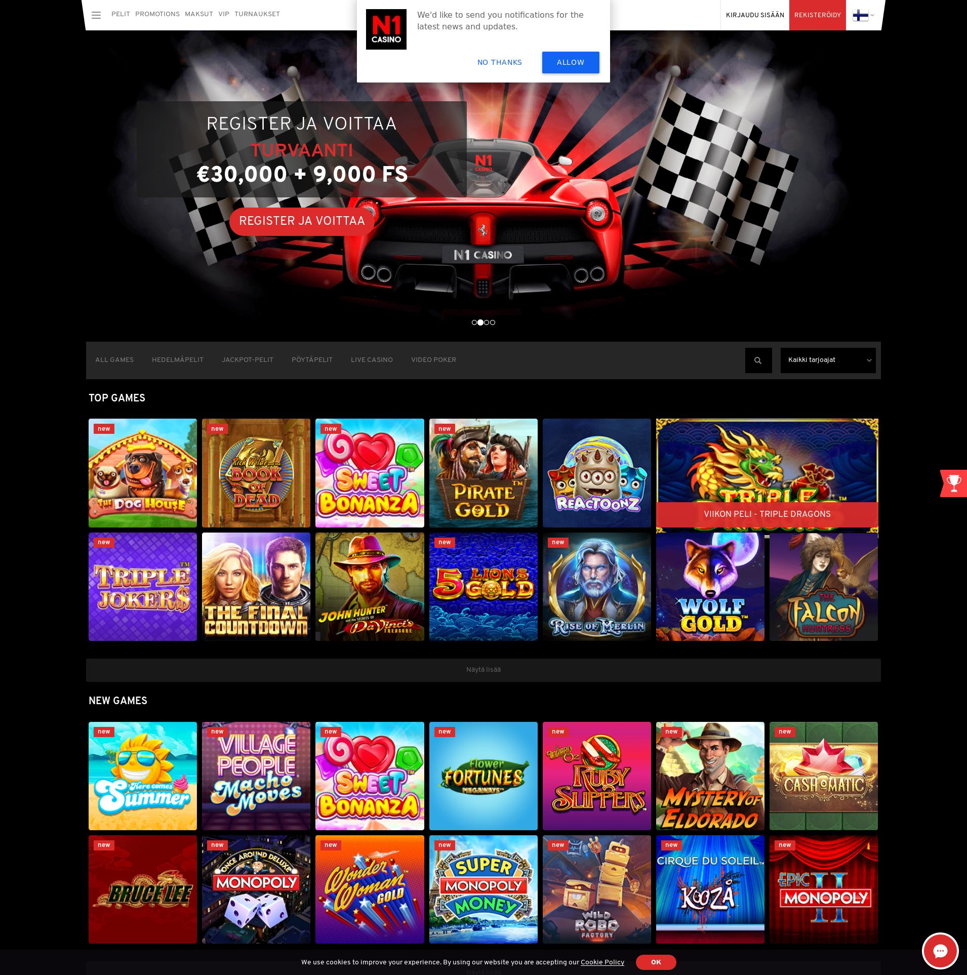 Casino screen Lobby 2019-06-26 for Finland