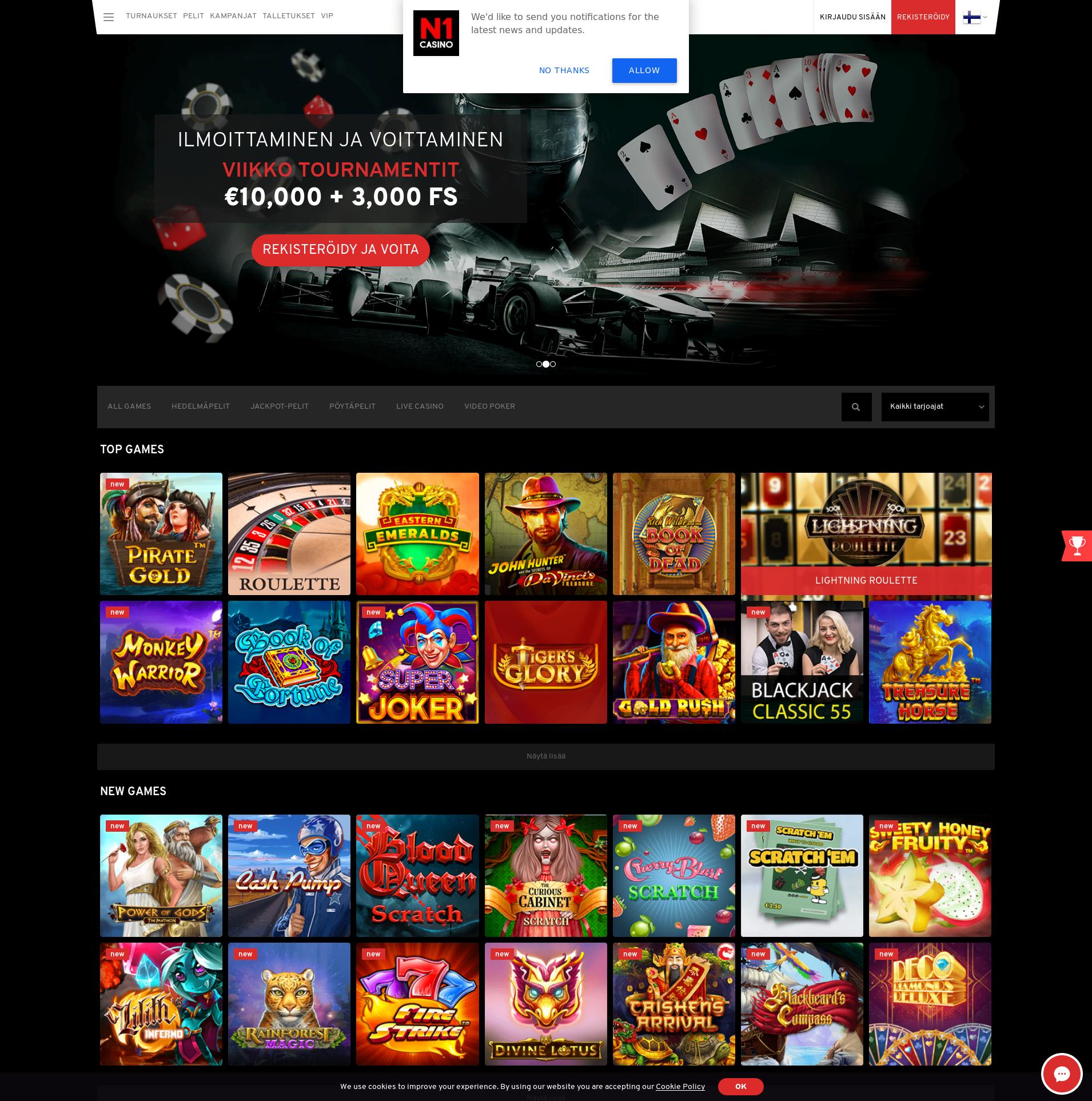 Casino-näyttö Lobby 2019-10-20 varten Suomi