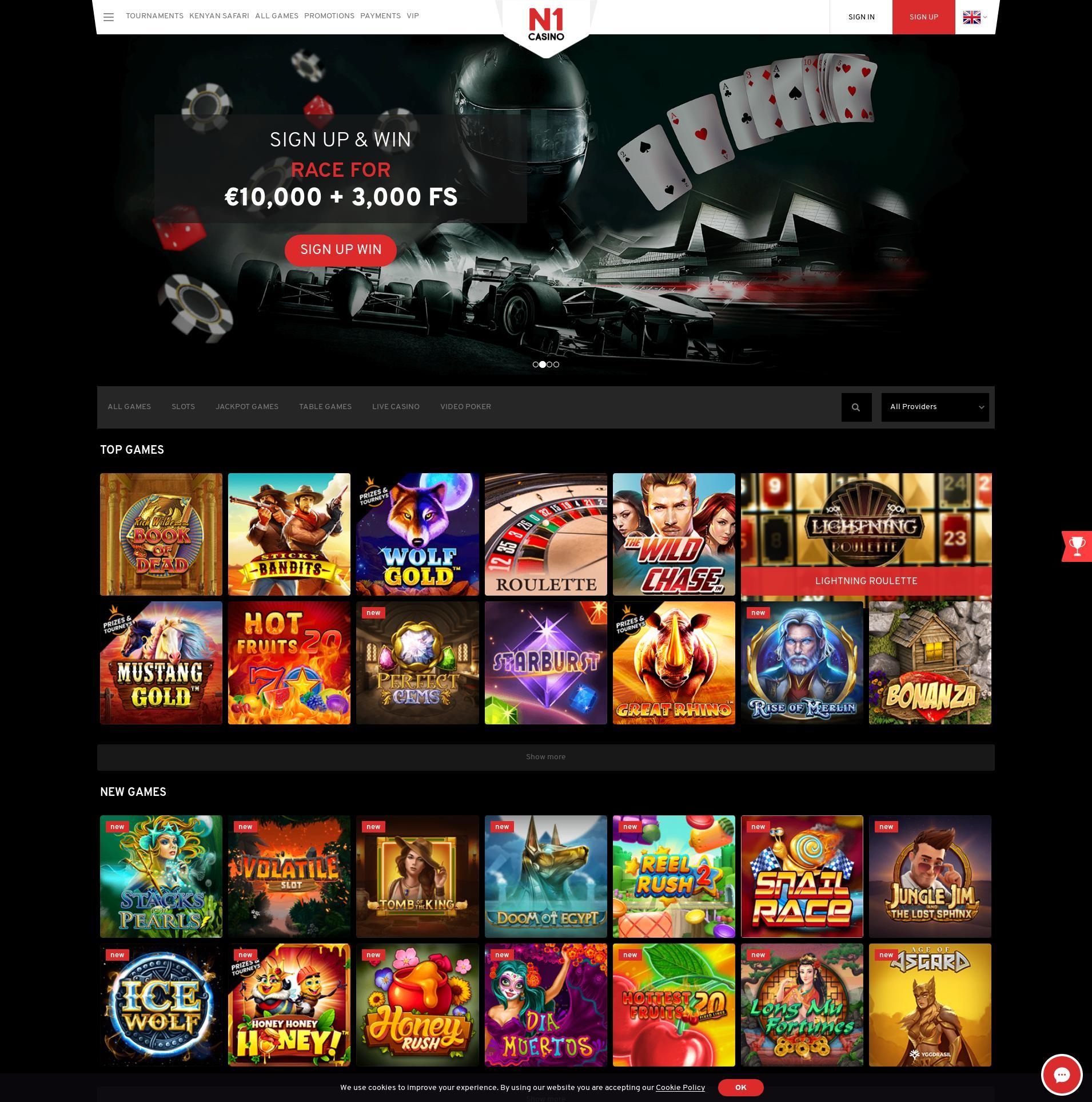 Casino scherm Lobby 2019-11-12 voor Nederland