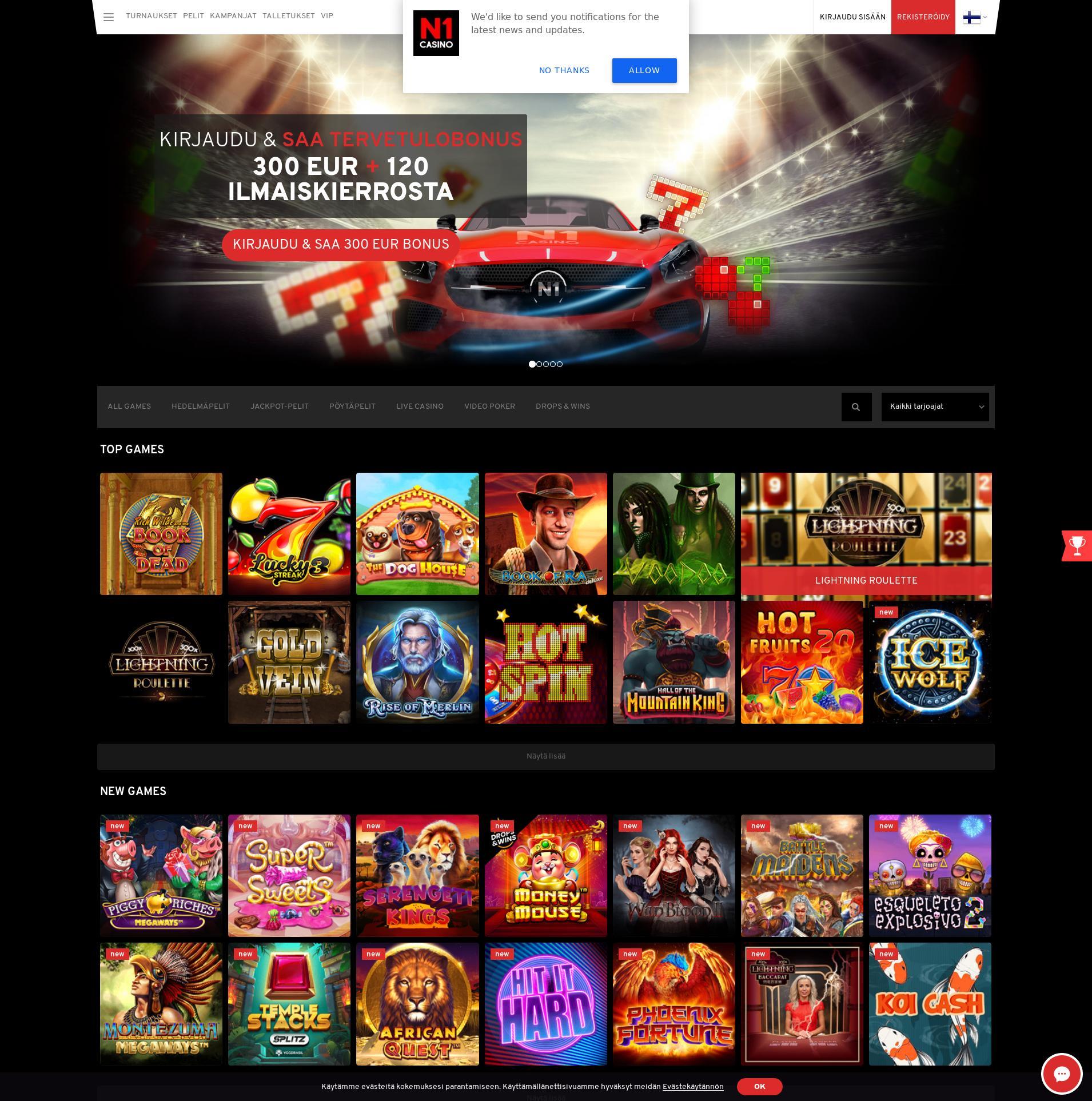 Casino-näyttö Lobby 2020-01-24 varten Suomi