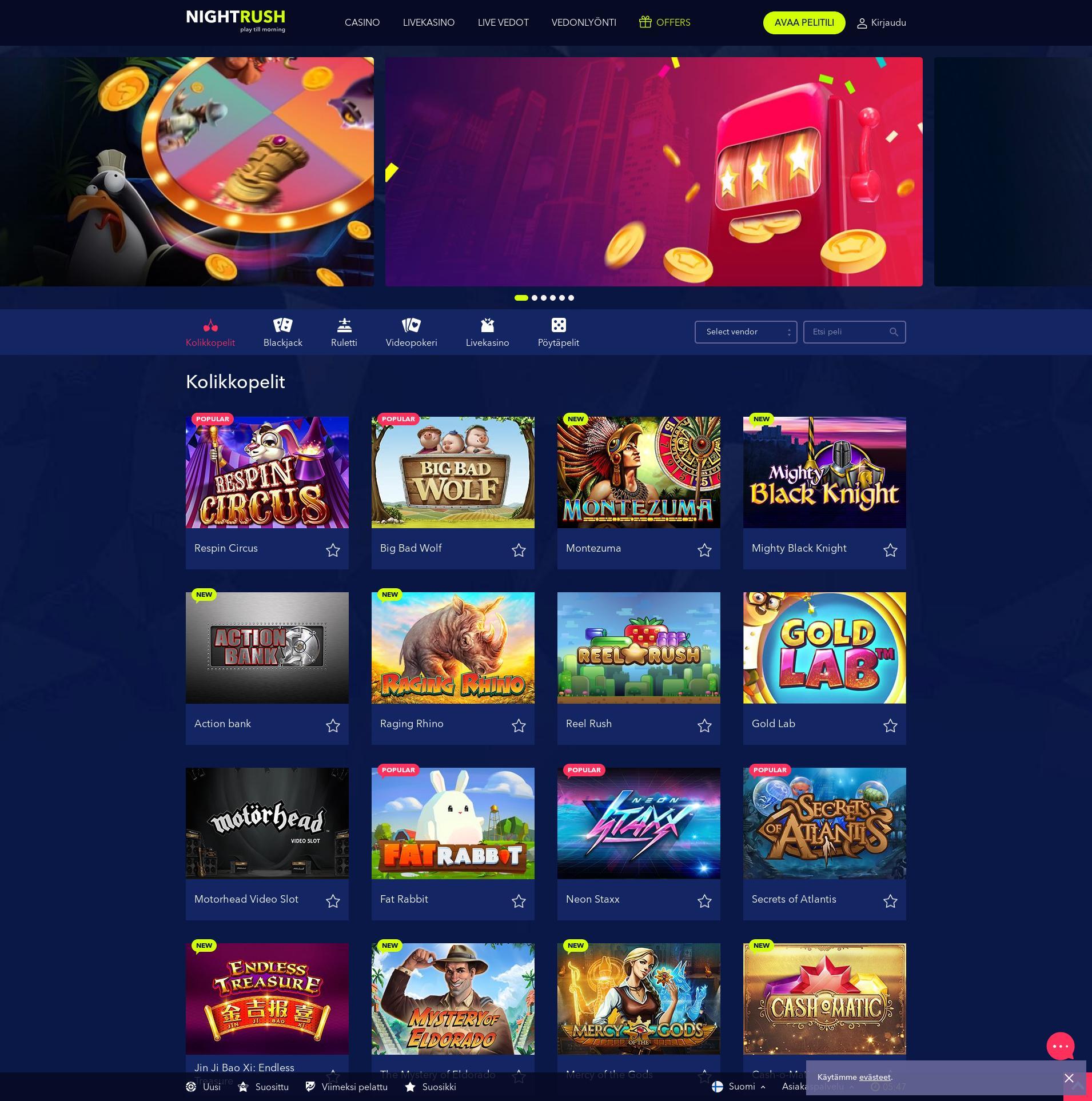 Casino skärm Lobby 2019-08-19 för finland