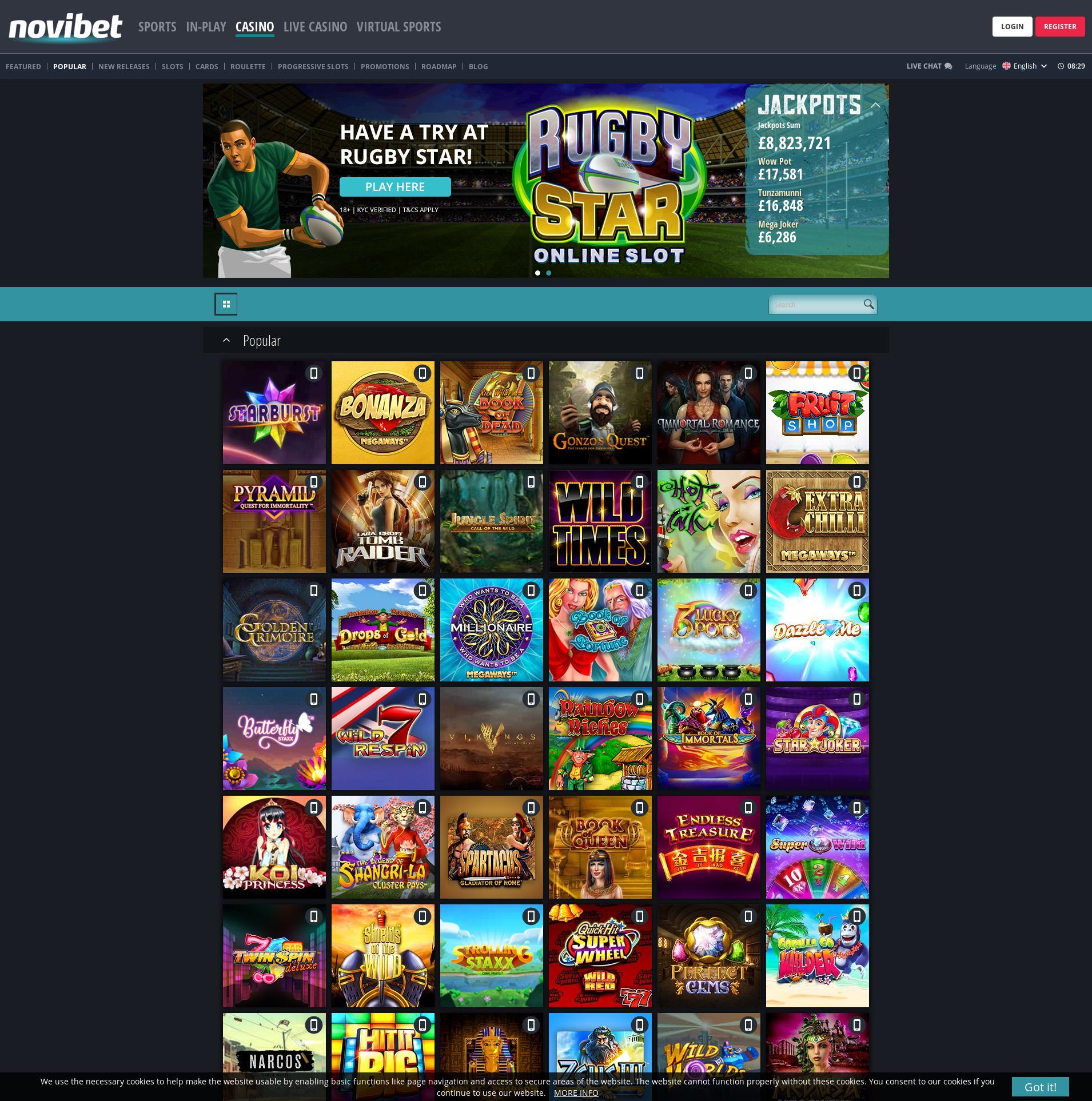 カジノのスクリーン Lobby 2019-09-20 ために イギリス