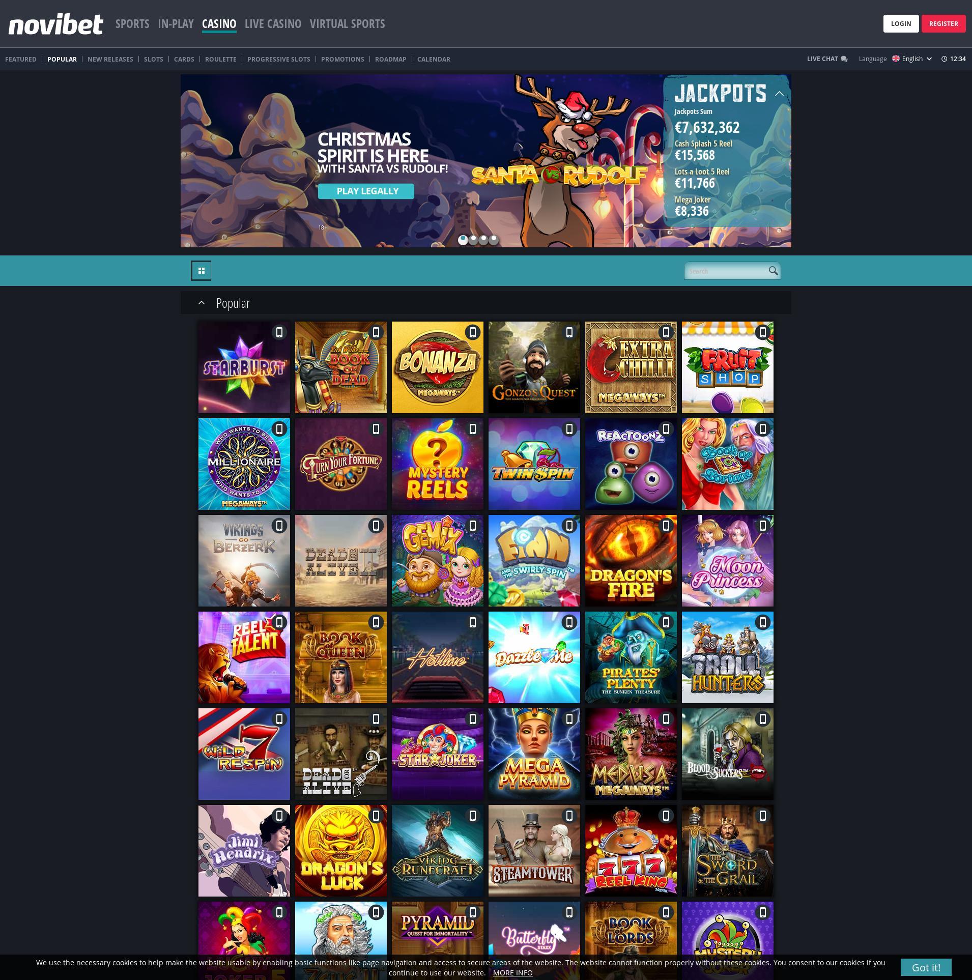 カジノのスクリーン Lobby 2019-12-09 ために ノルウェー