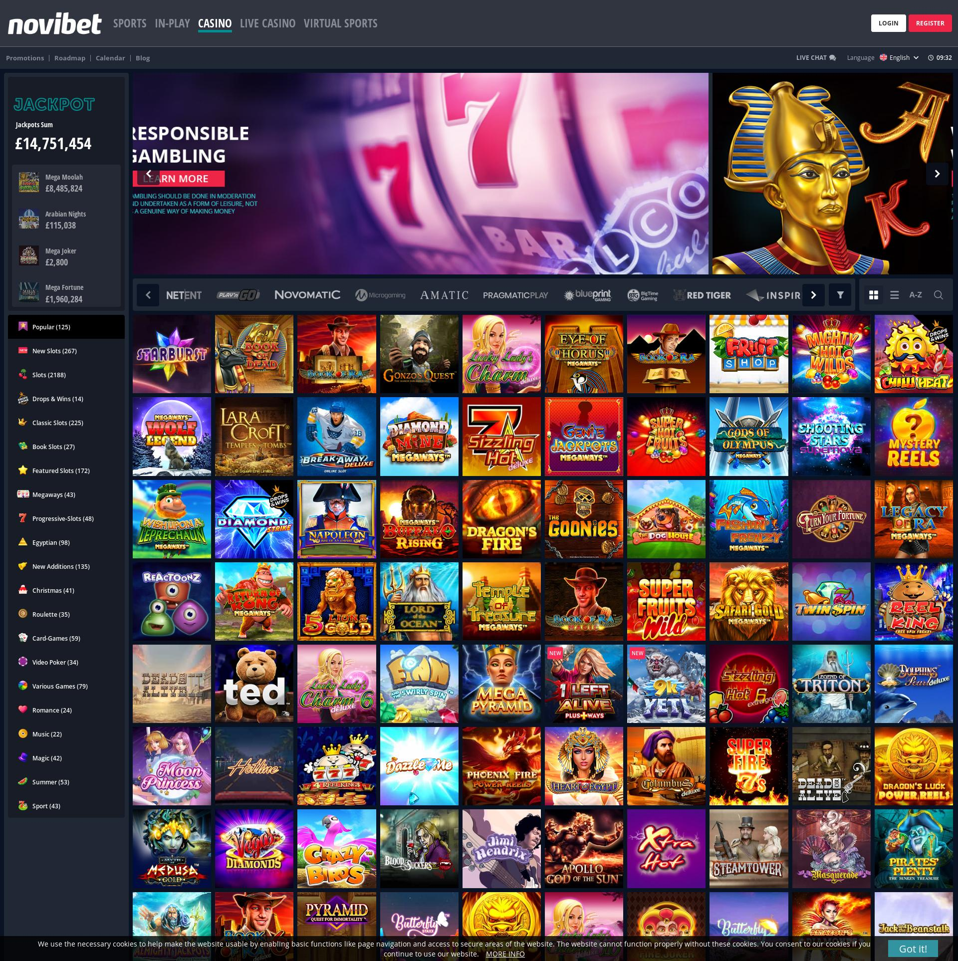カジノのスクリーン Lobby 2020-02-19 ために イギリス