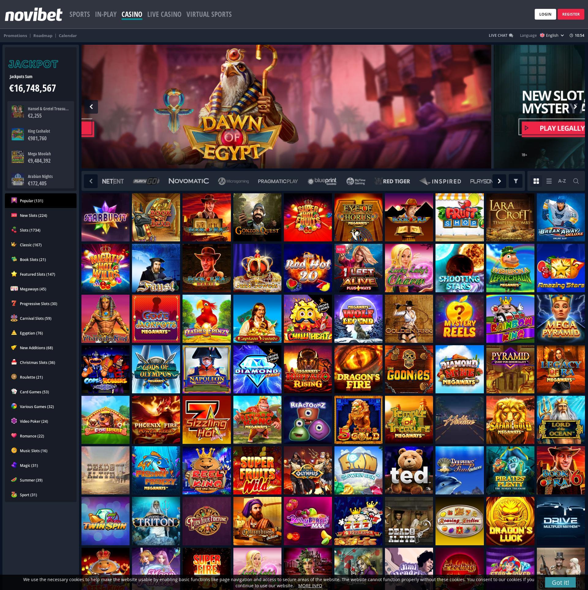 Casino skjerm Lobby 2020-02-26 til Norge