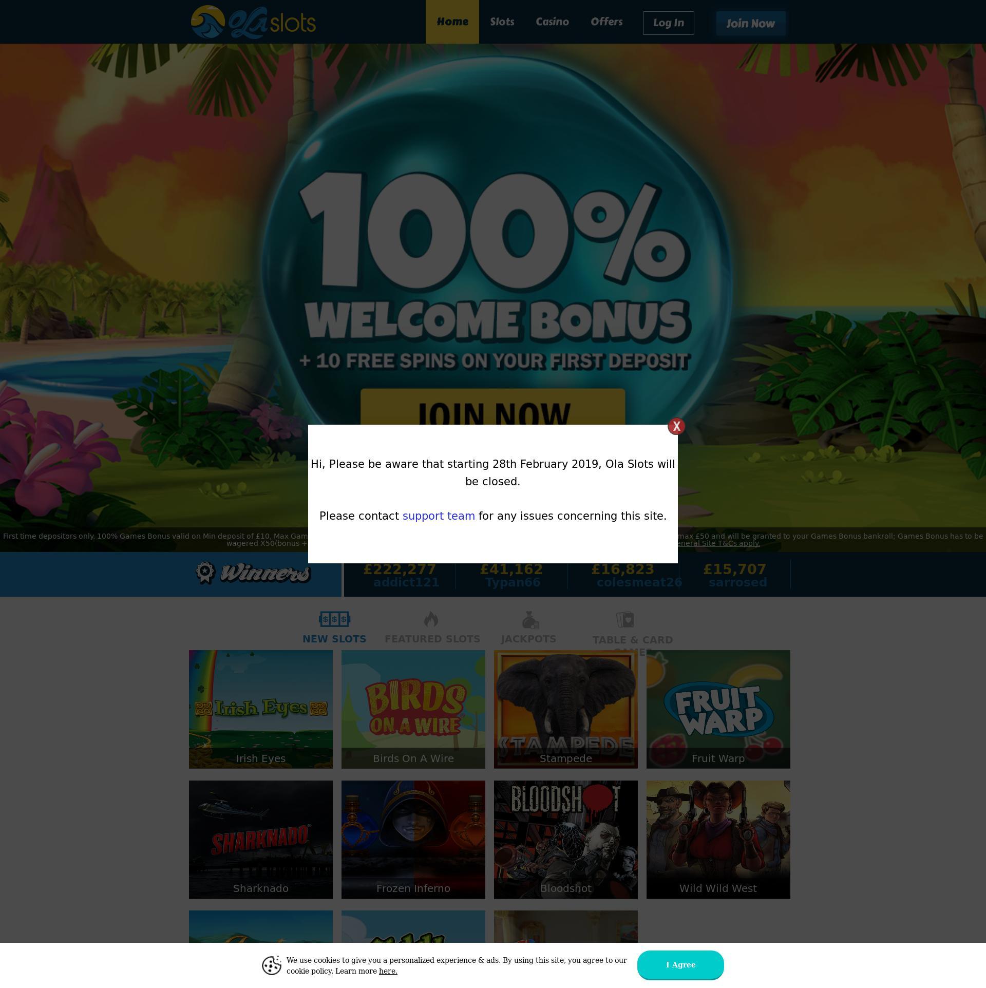 Casino screen Lobby 2019-02-28 for United Kingdom