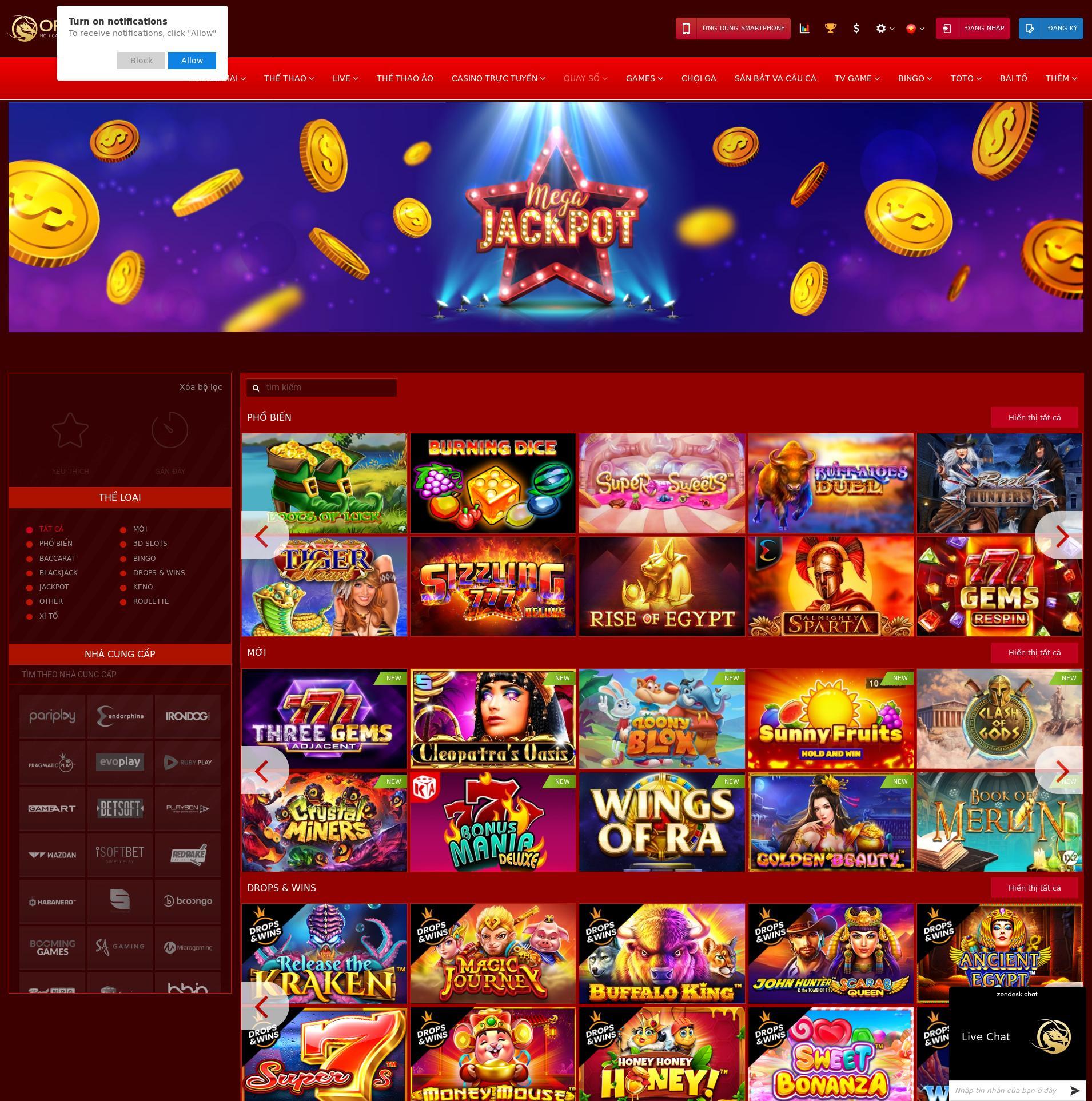 Màn hình Casino Lobby 2020-02-28 cho Việt Nam