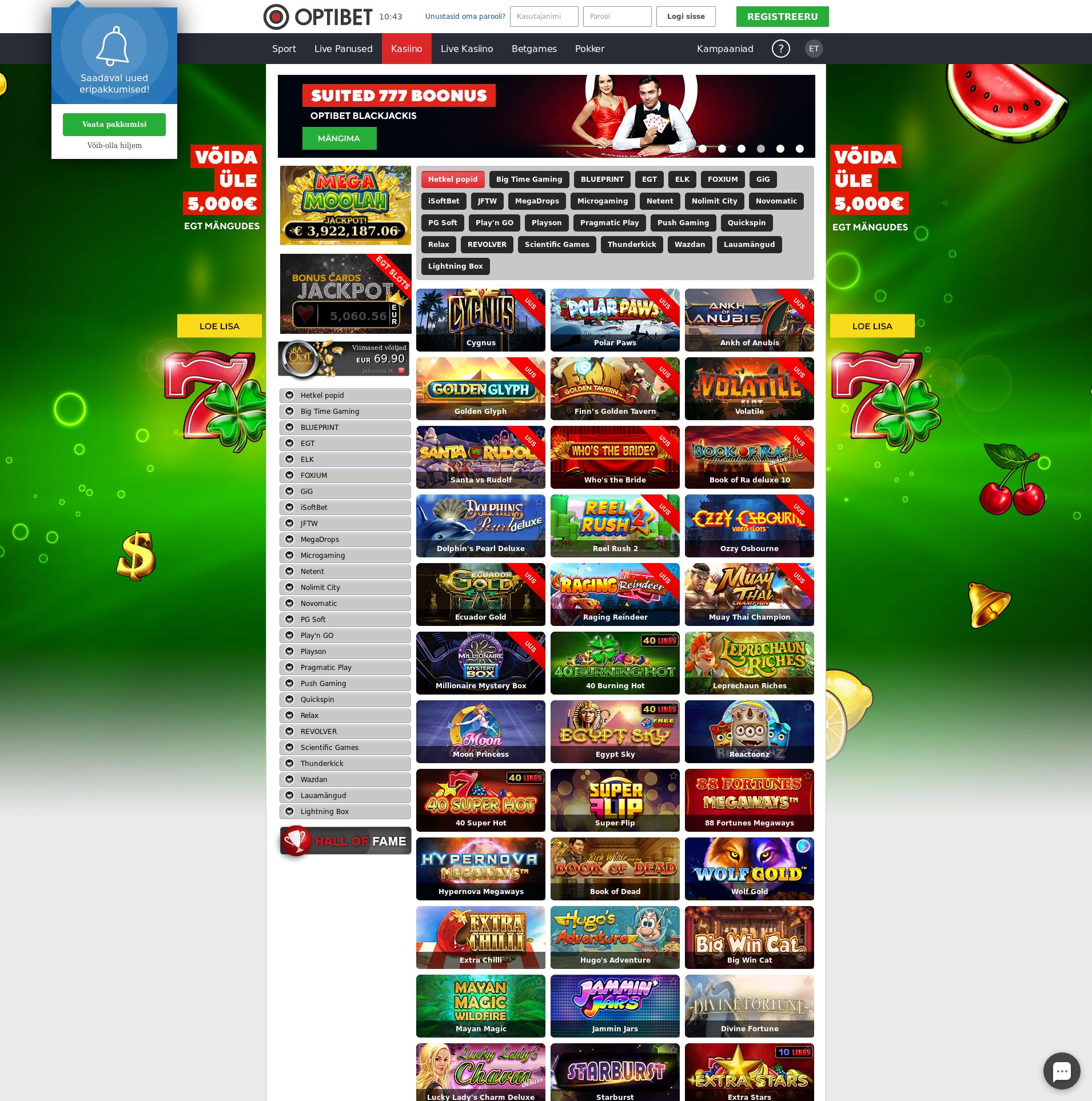 Casino skärm Lobby 2019-12-06 för estland