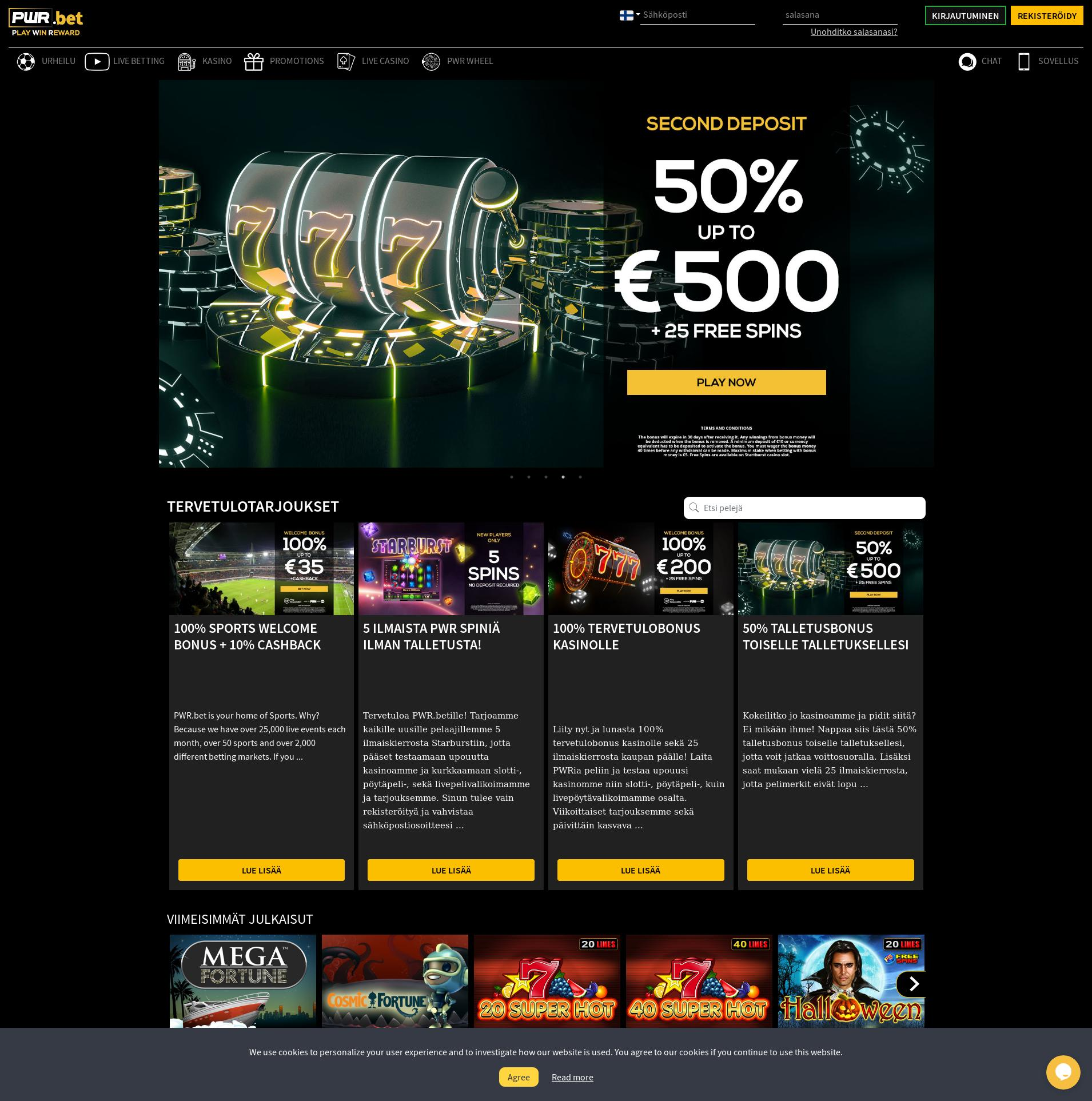 Casino screen Lobby 2019-06-24 for Finland