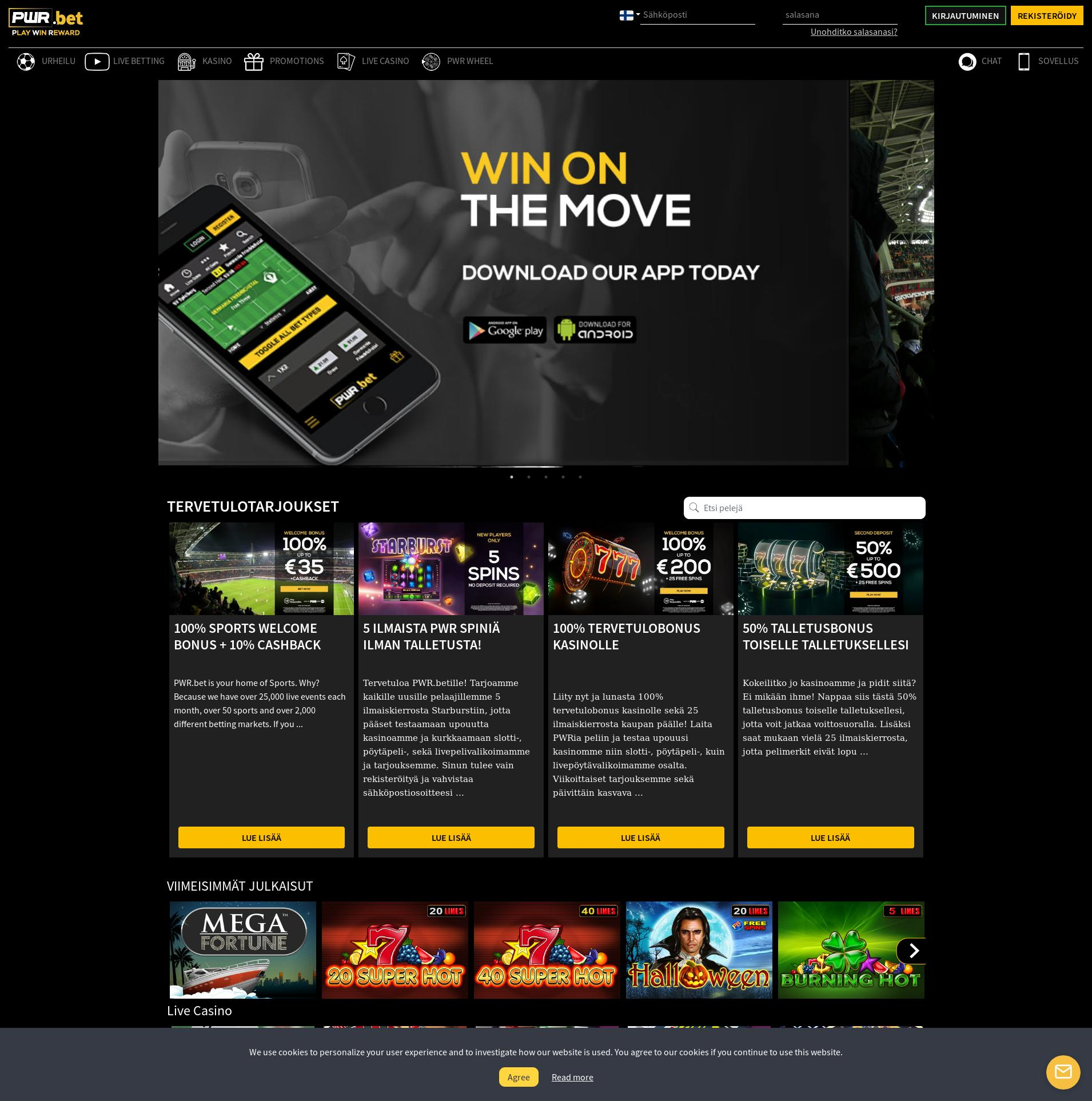 Casino screen Lobby 2019-09-14 for Finland