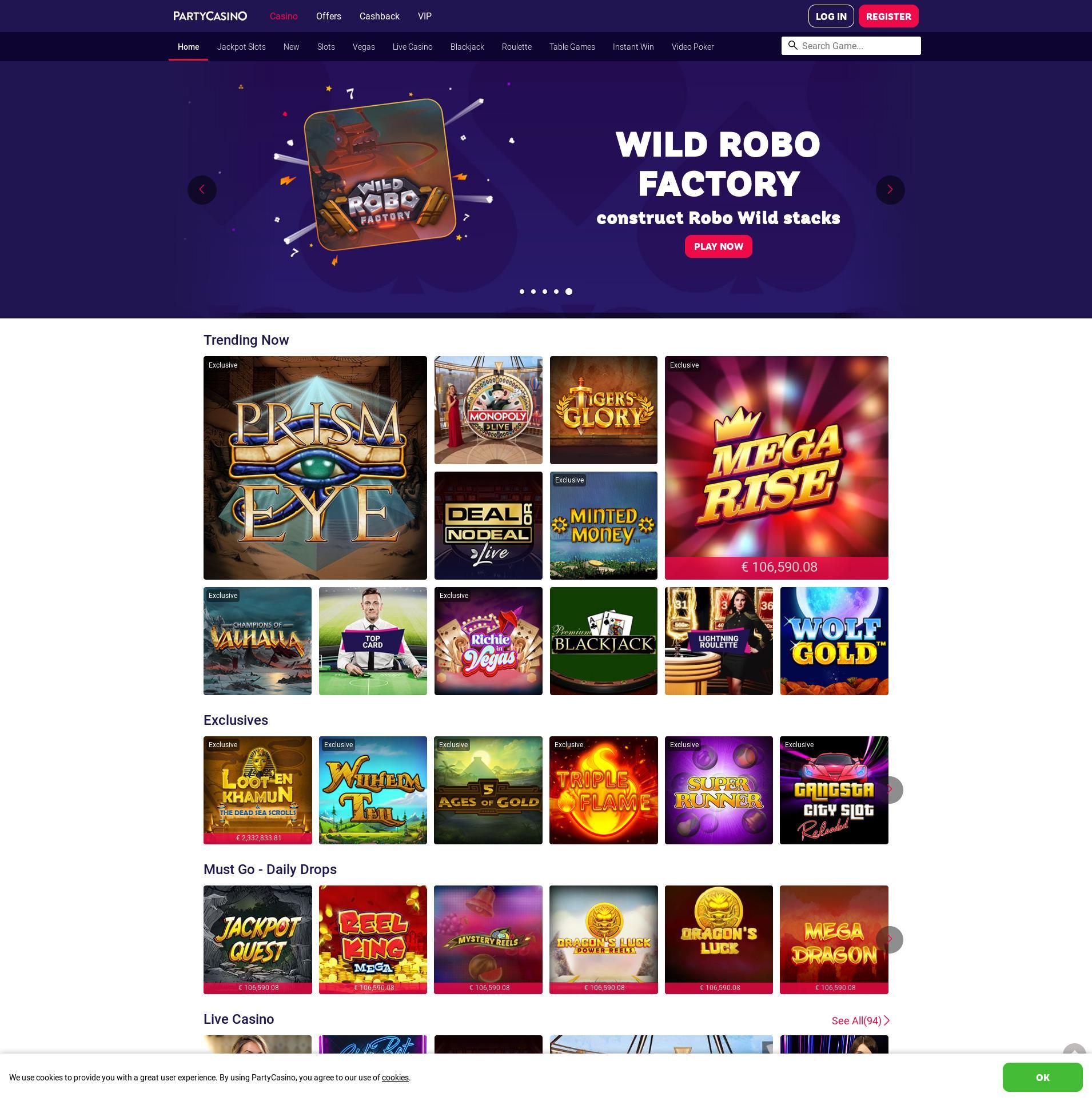 Casino screen Lobby 2019-07-15 for Netherlands