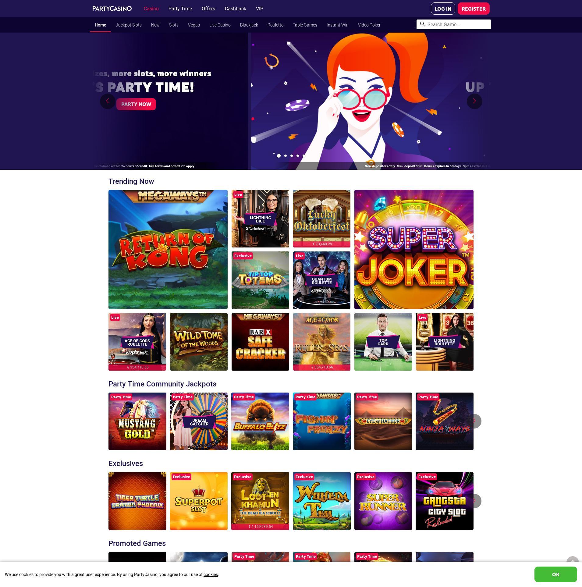 Casino scherm Lobby 2019-09-19 voor Nederland