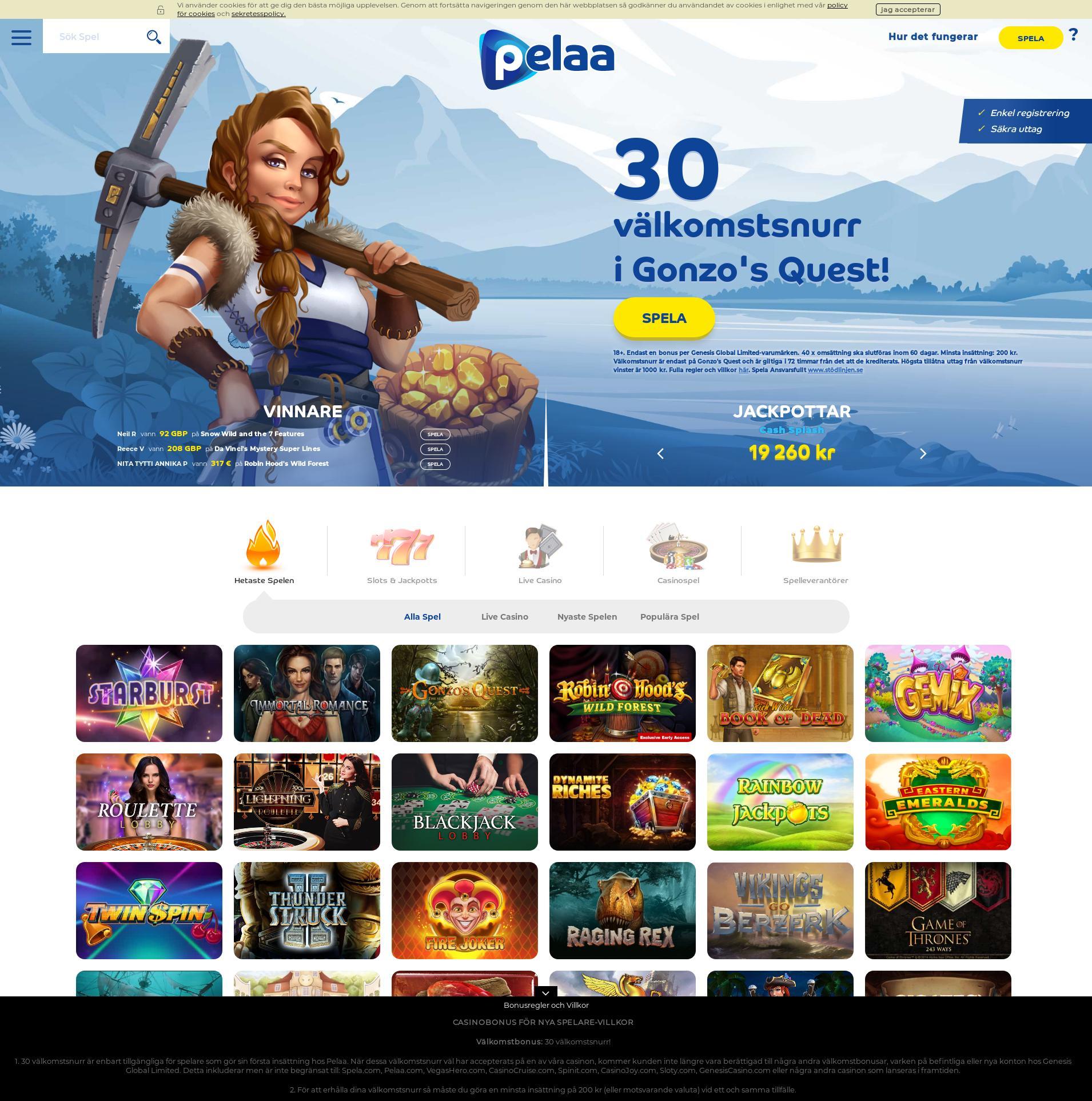 Casino screen Lobby 2020-04-01 for Sweden