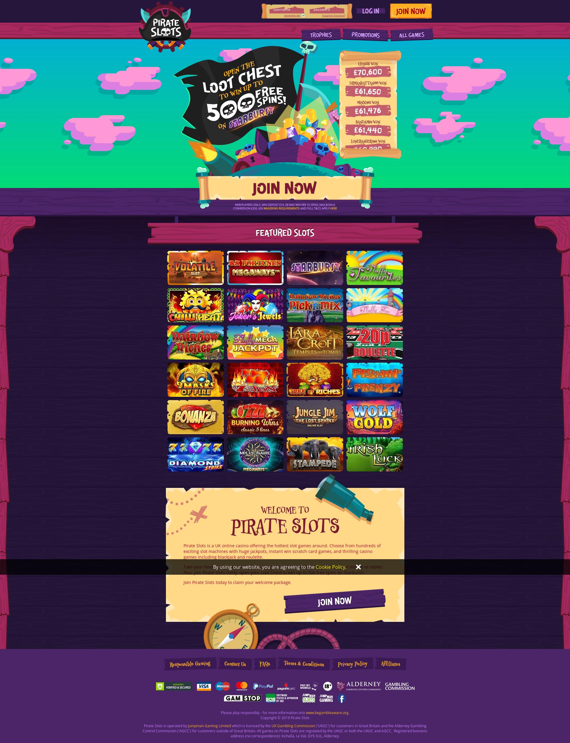 Casino screen Lobby 2019-11-16 for United Kingdom