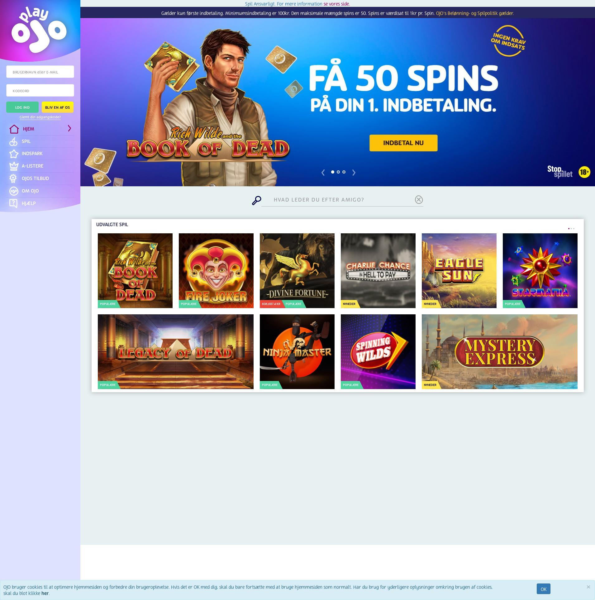 Casino skärm Lobby 2020-05-30 för Danmark