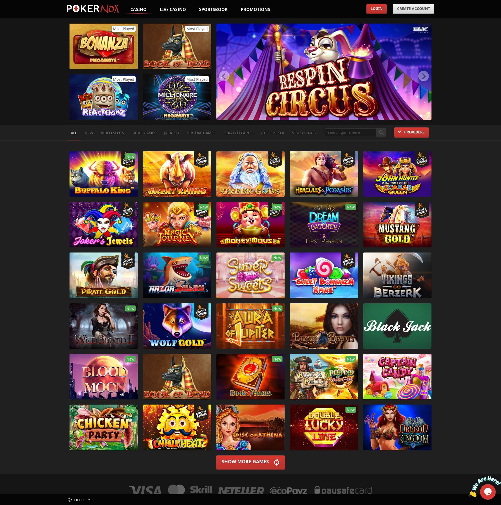 Casino Bildschirm Lobby 2020-01-24 zum Deutschland