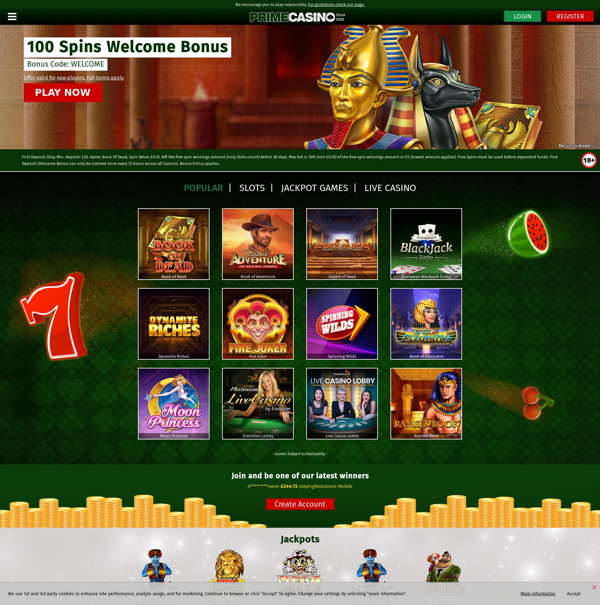 Casino screen Lobby 2020-06-04 for United Kingdom