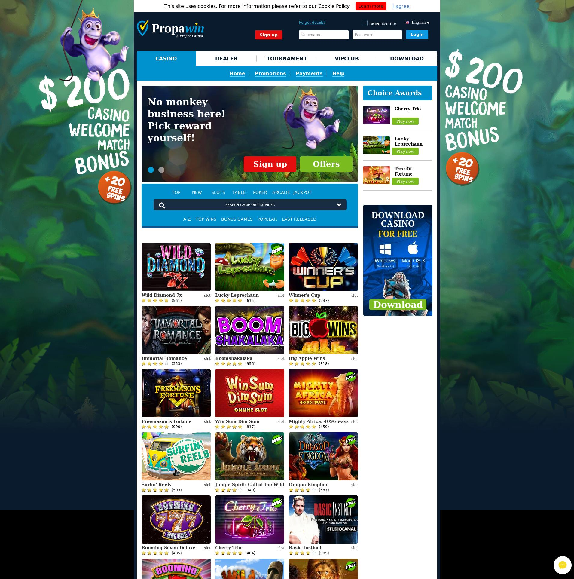 Màn hình Casino Lobby 2019-08-18 cho Việt Nam