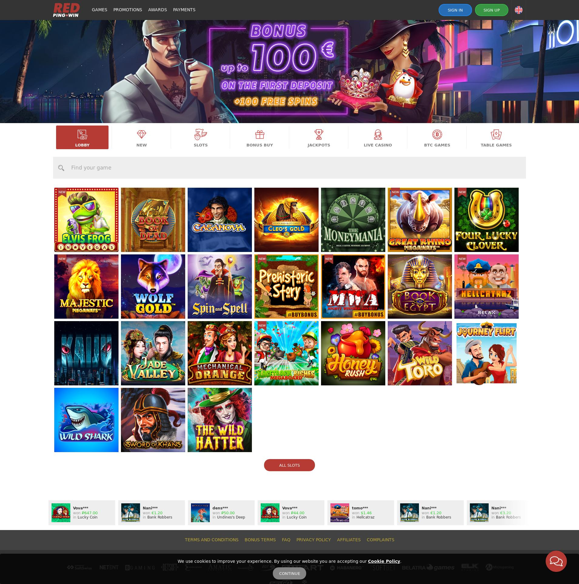 Casino skærm Lobby 2020-05-30 til Norge