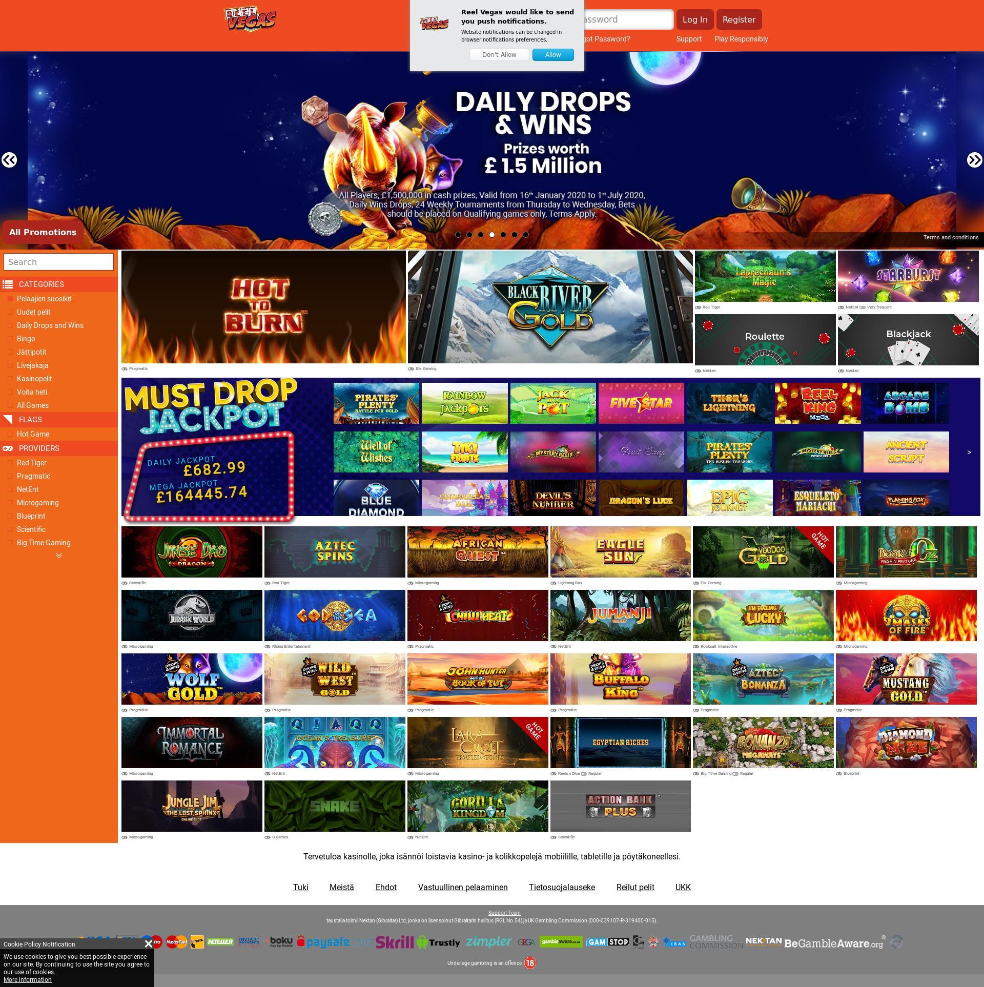 Casino screen Lobby 2020-05-30 for Finland