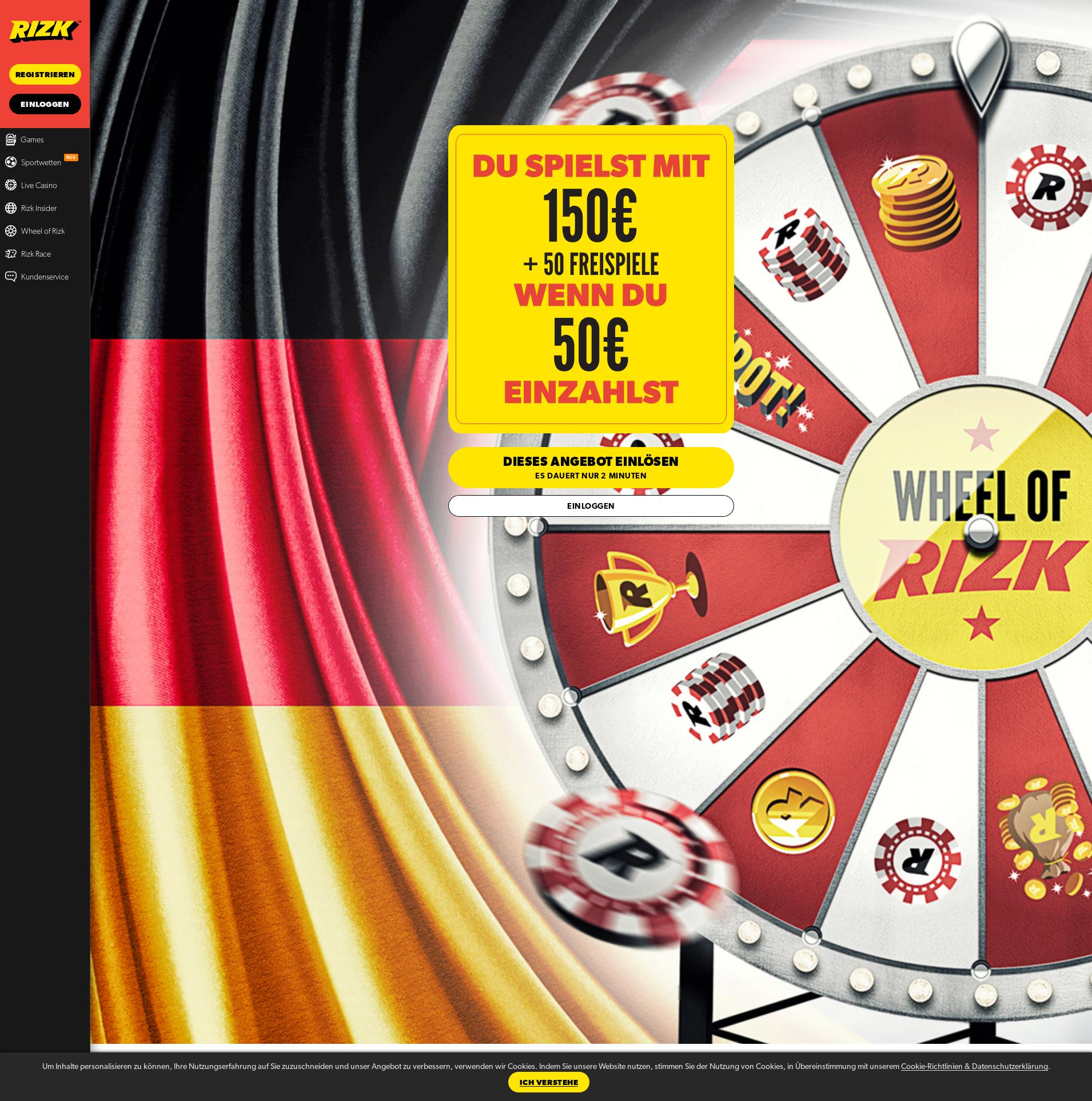 Casino screen Lobby 2019-07-15 for Germany