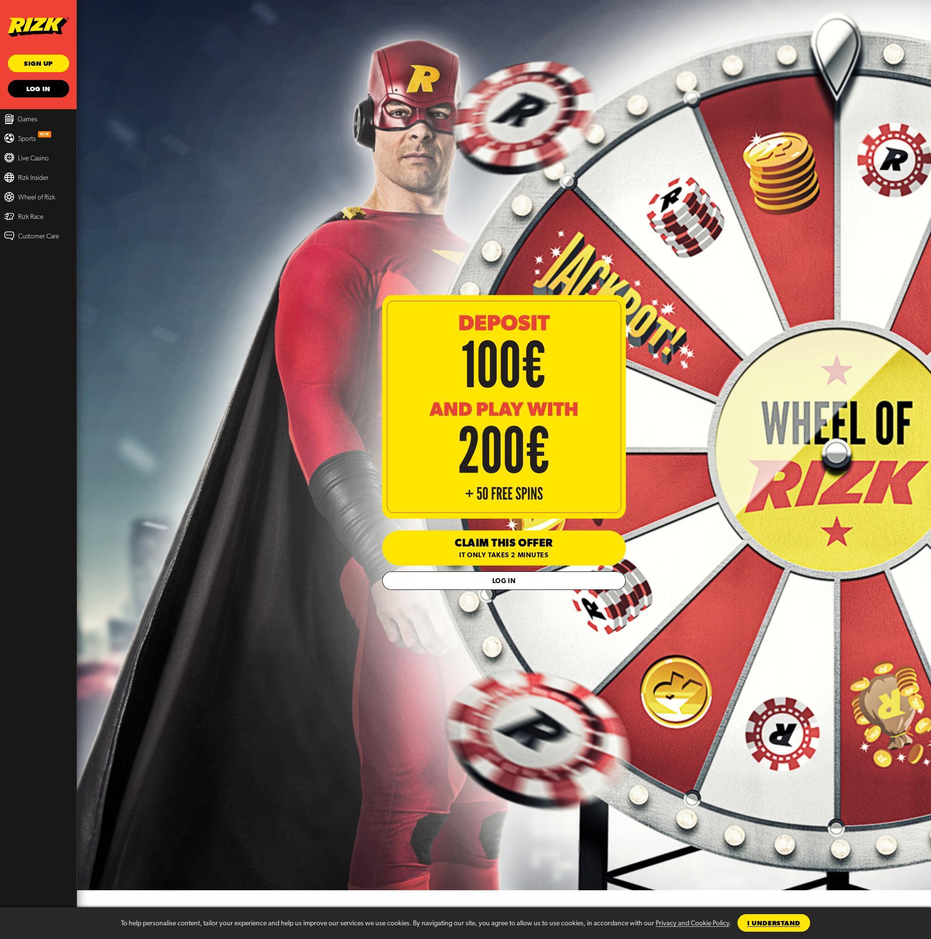 Casino scherm Lobby 2020-03-31 voor Nederland