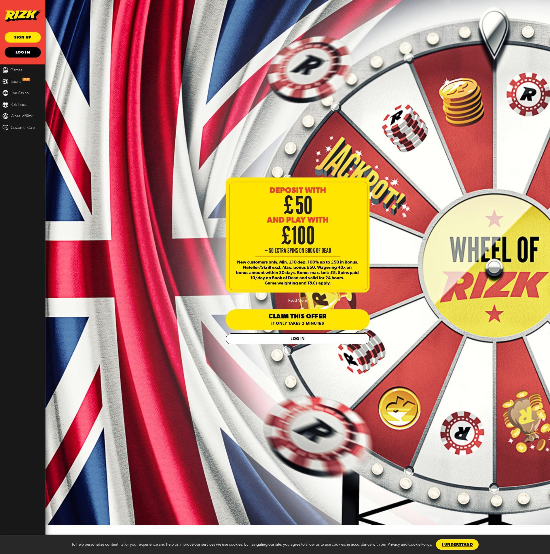 Casino skärm Lobby 2020-05-29 för Storbritannien