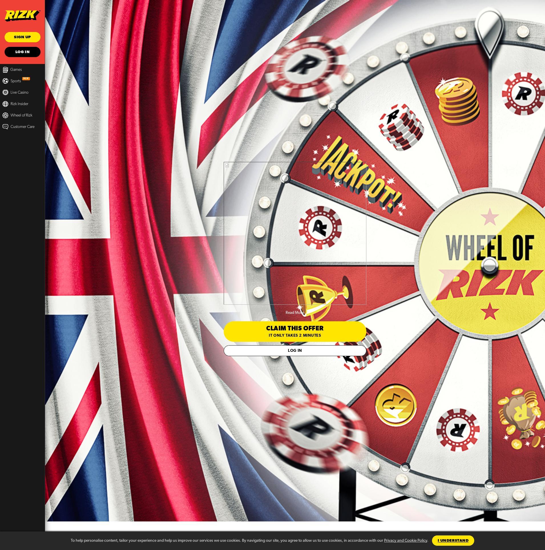 Obrazovka kasina Lobby 2020-06-01 pro Spojené království
