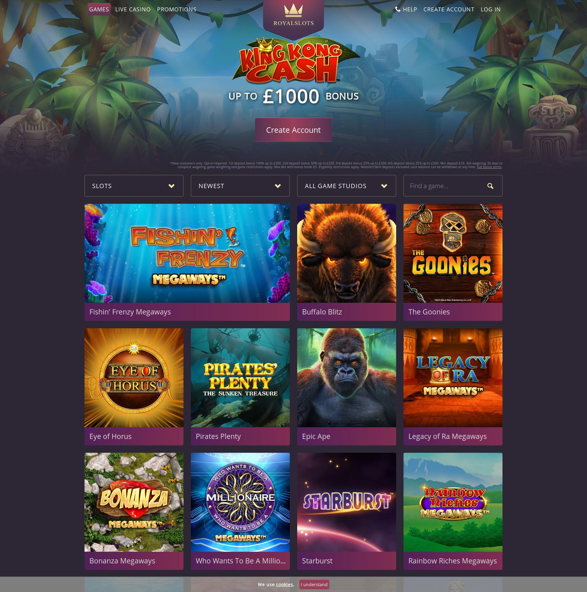 Casino screen Lobby 2019-08-22 for United Kingdom