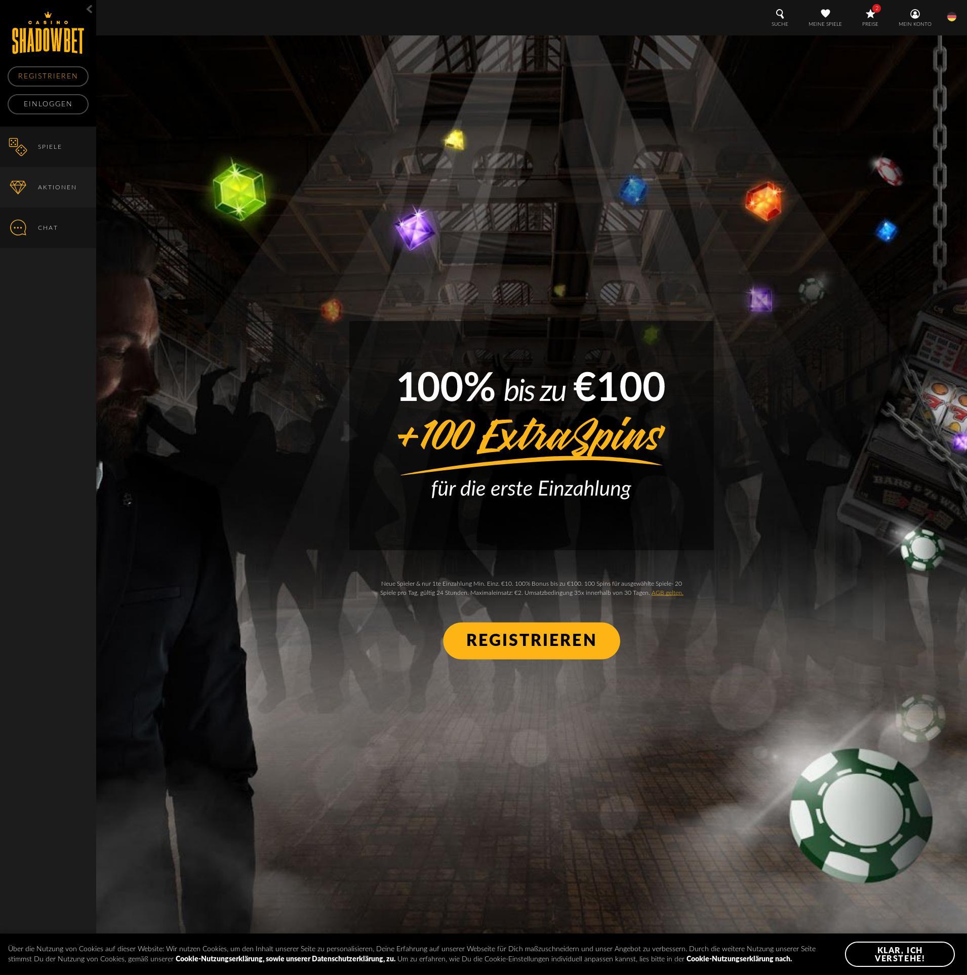 Casino Bildschirm Lobby 2019-10-22 zum Deutschland