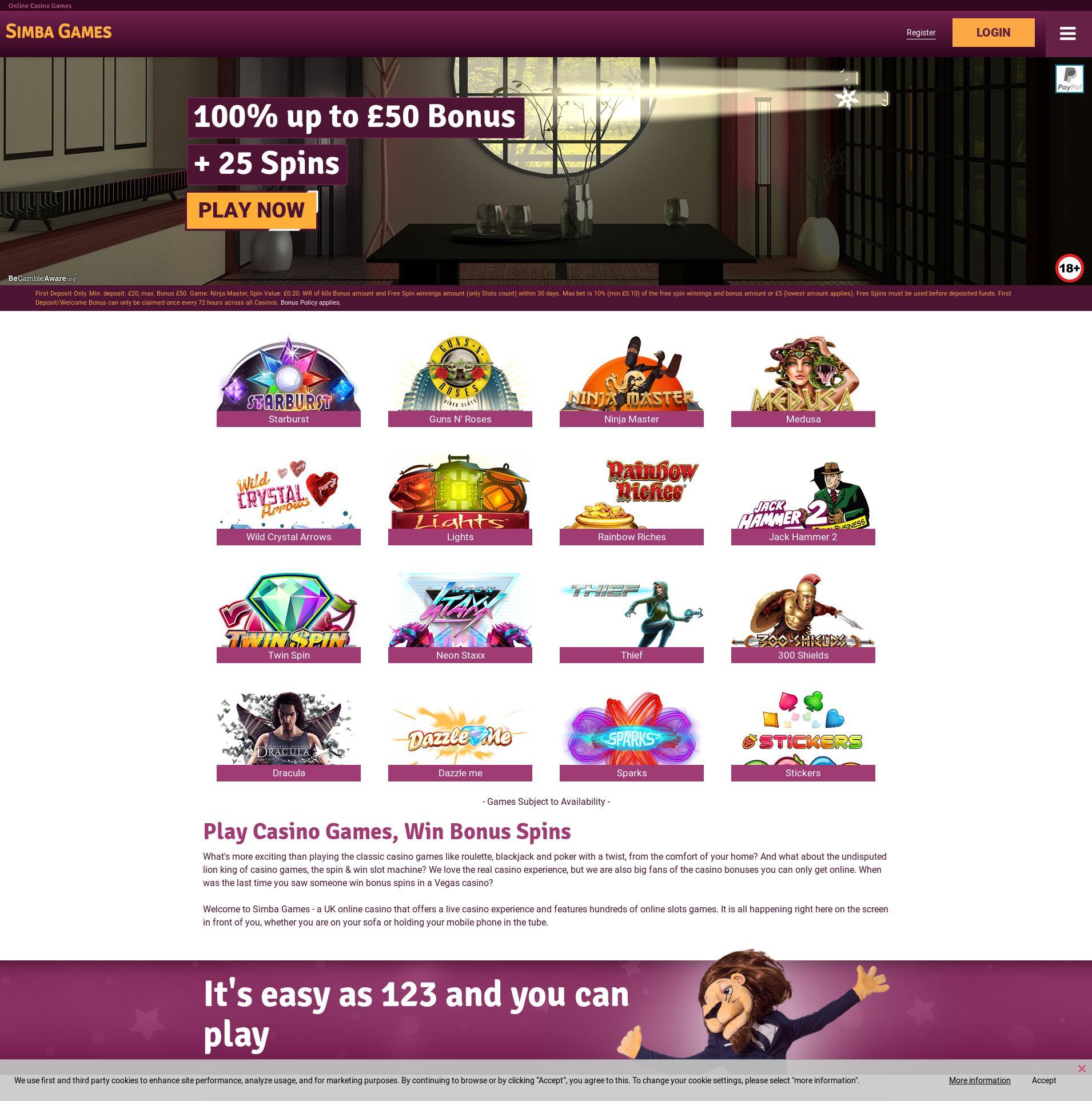 Casino screen Lobby 2020-02-25 for United Kingdom