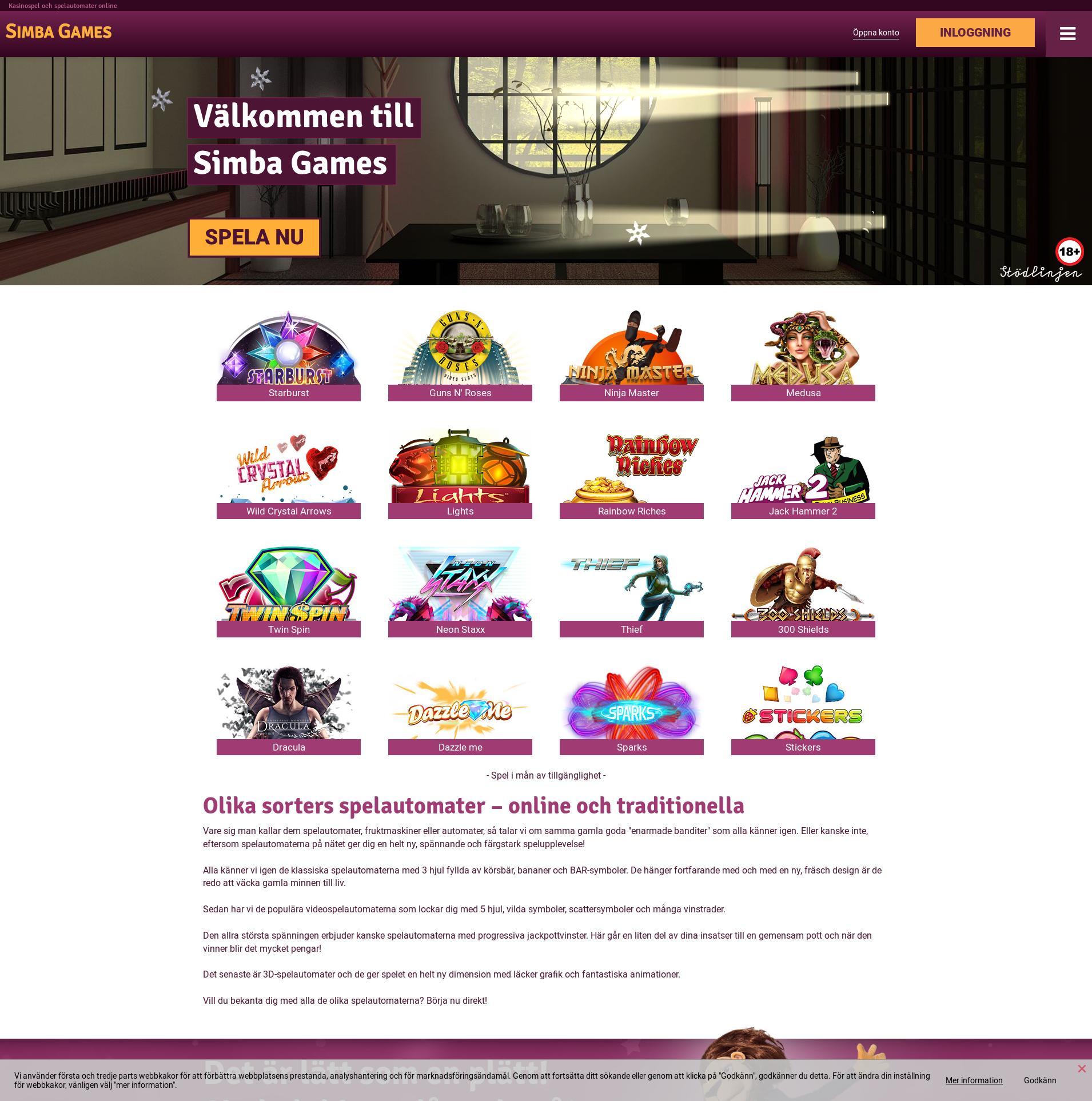 Casino skärm Lobby 2020-04-08 för Sverige